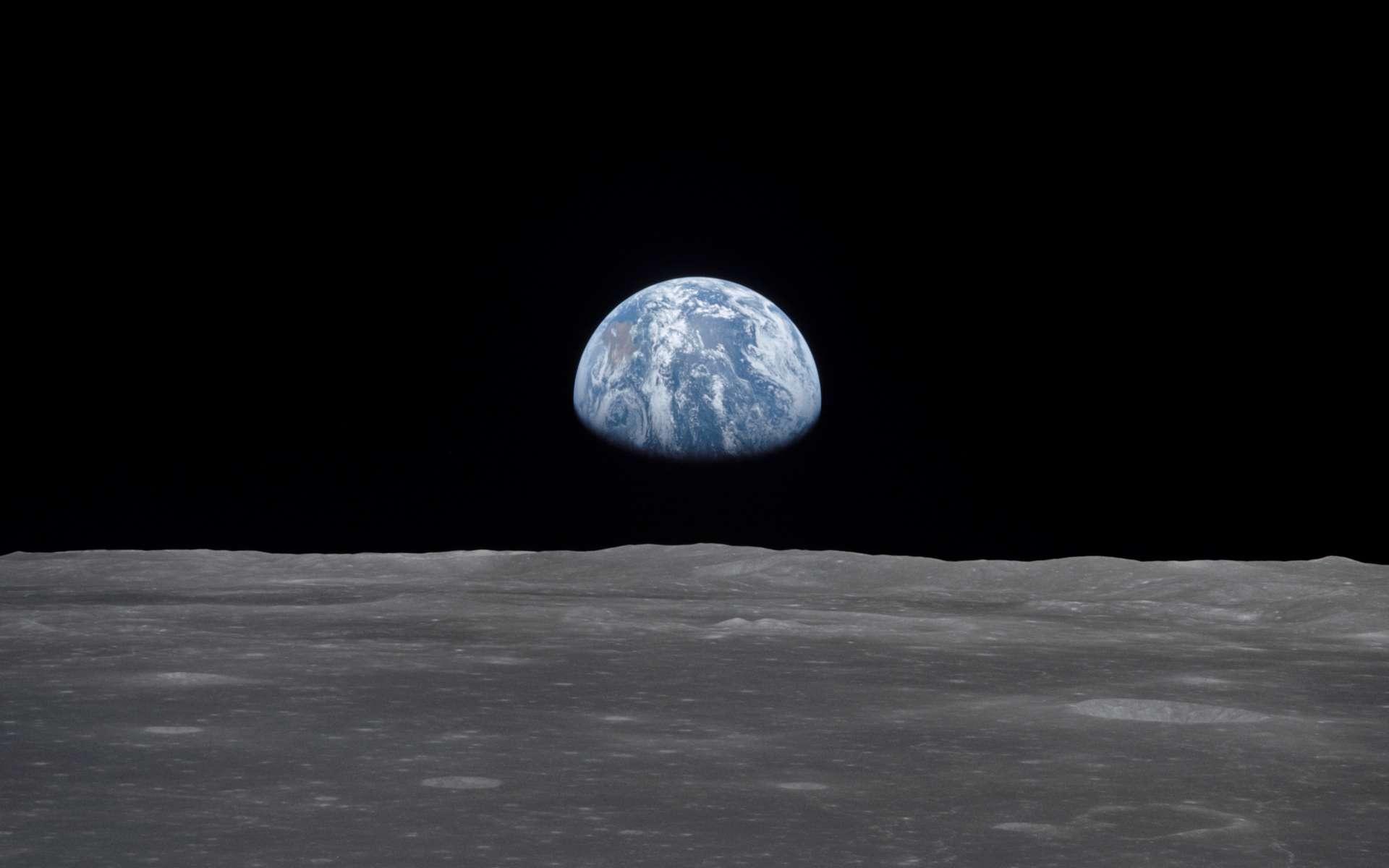 La Terre vue de la Lune. Photo prise depuis le vaisseau Apollo 11 le 20 juillet 1969. © Nasa