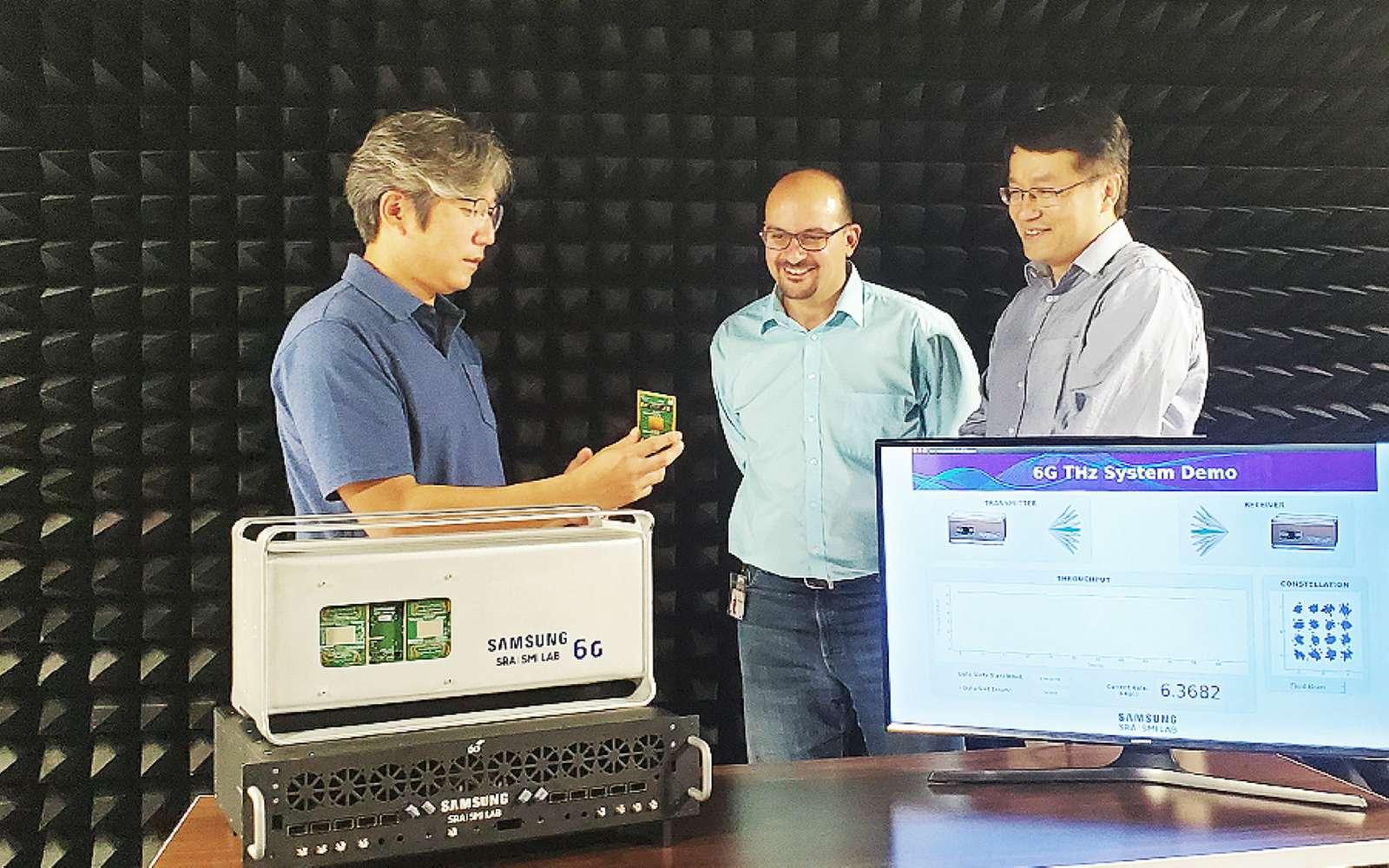 Le prototype 6G sur le spectre THz mis au point par Samsung et l'UCSB. © Samsung