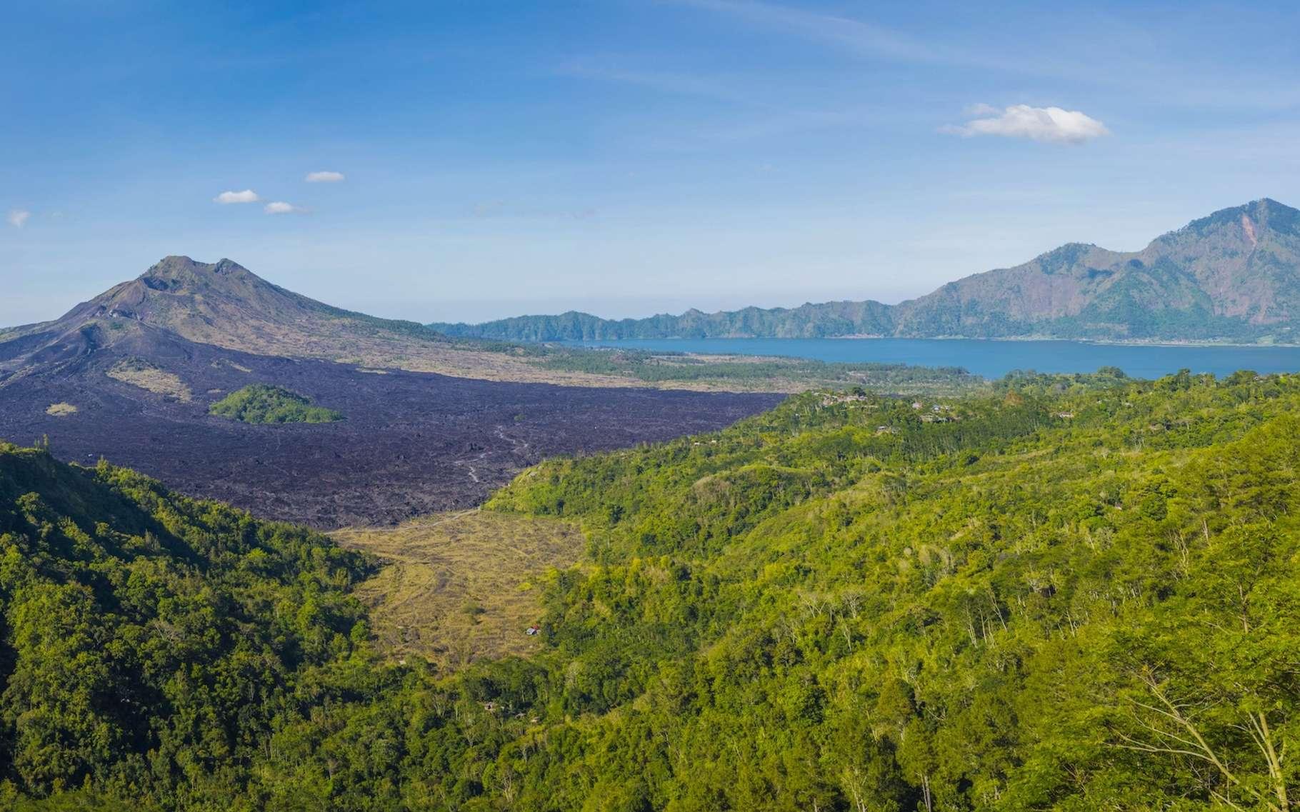 Certaines montagnes situées dans des régions tropicales humides comme l'Indonésie capturent et stockent le CO2 atmosphérique pesant ainsi lourdement sur le climat mondial. © Nawalescape, Pixabay, CC0 Creative Commons