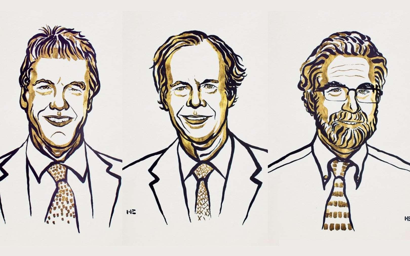 Le prix Nobel de Médecine 2019 a été attribué à William Kaelin, Gregg Semenza et Peter Ratcliffe pour leurs recherches sur l'adaptation des cellules à l'apport variable d'oxygène. © Nobel Media