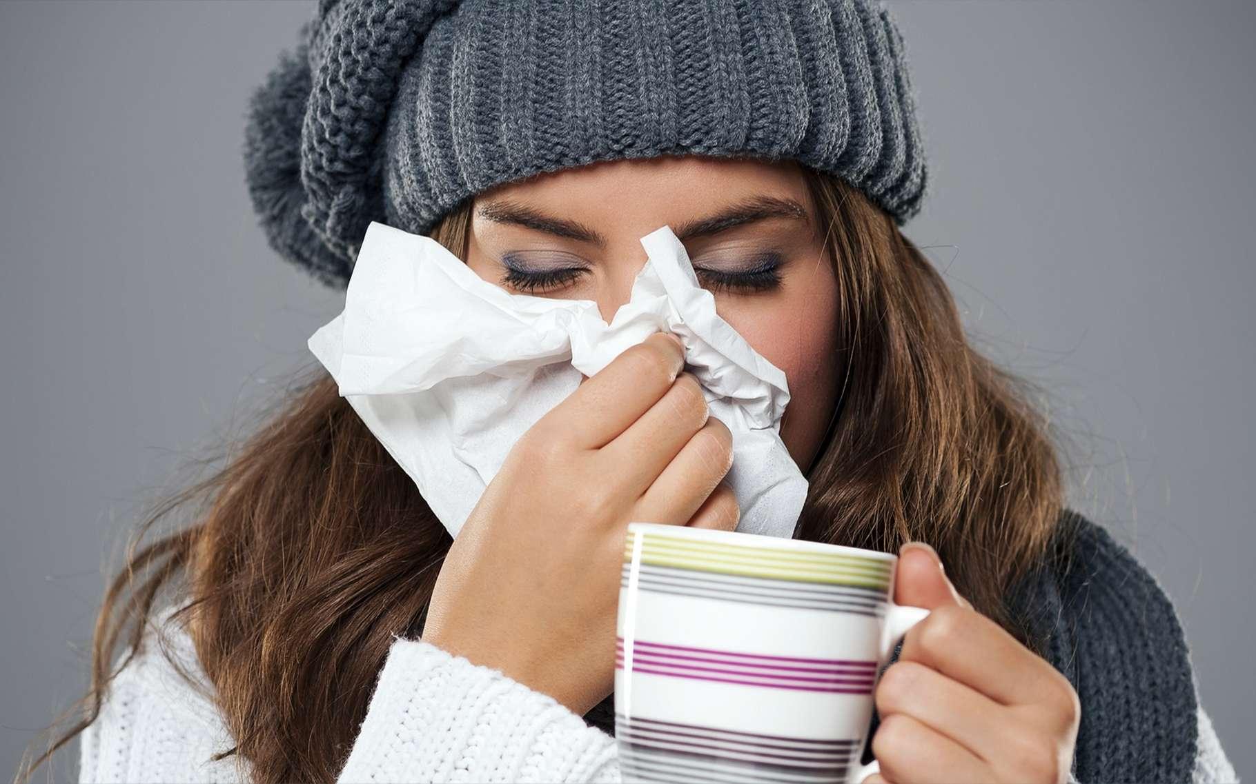 Les virus de la grippe entraînent le plus souvent une maladie bénigne, qui s'accompagne de fatigue, de fièvre, de toux ou de maux de tête. Une infection bactérienne supplémentaire peut parfois s'avérer mortelle. © gpointstudio, Shutterstock