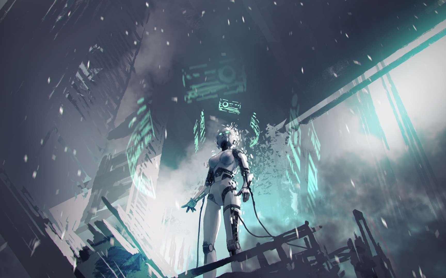 Perdu dans ses pensées, le Robot Elvex rêve. © grandfailure, Adobe Stock