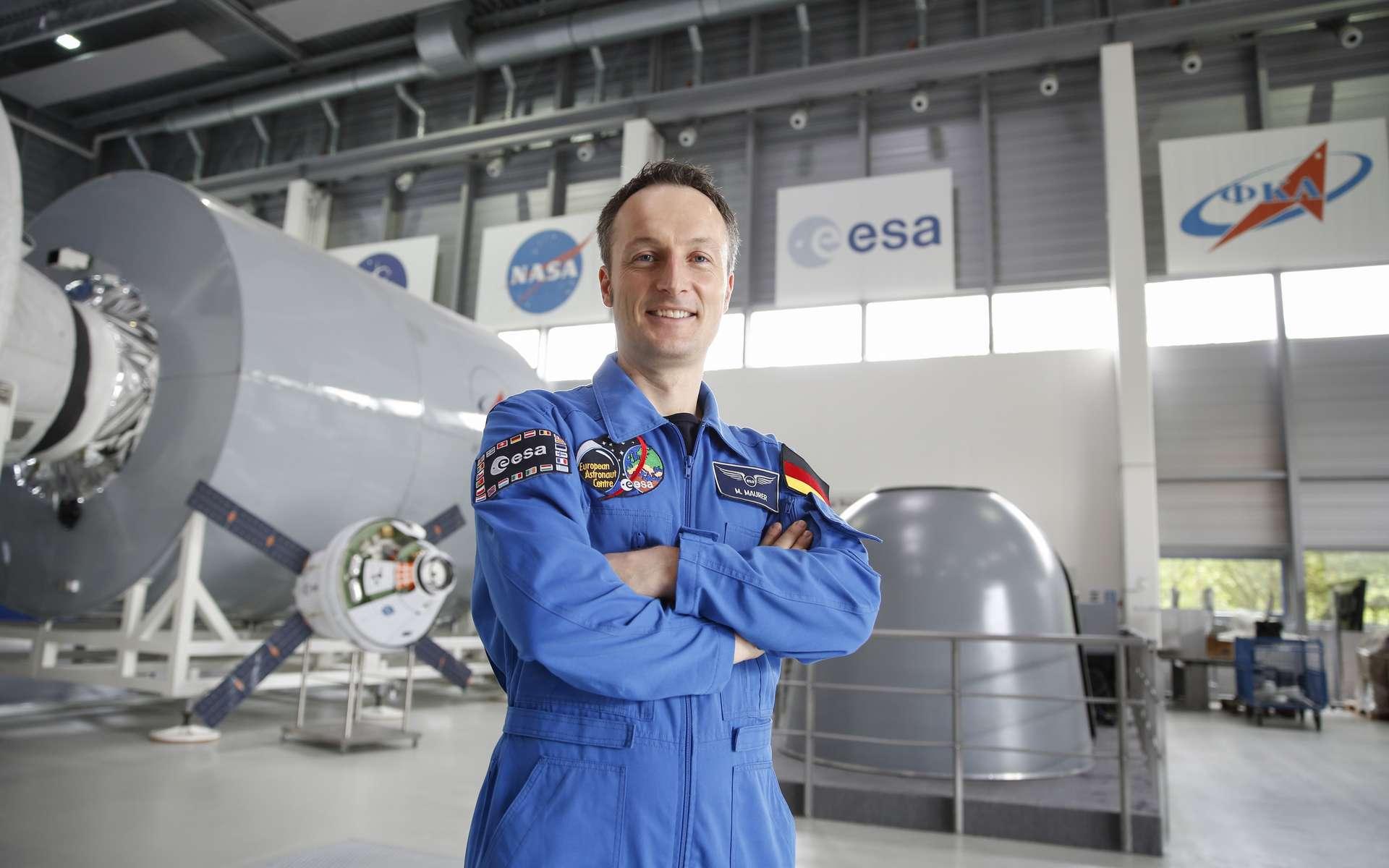 L'Européen Matthias Maurer (ici au centre européen des astronautes à Cologne, en Allemagne) se rendra dans la Station spatiale à bord de Crew Dragon-3 en 2021. © ESA, Sabine Grothues