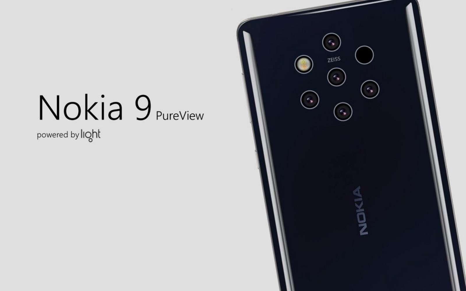 Avec ses cinq capteurs photos sur le dos placés de façon hexagonale, le Nokia 9 Pureview sera-t-il le mobile doté du plus grand nombre de modules photos en 2019 ? © Eero Concept