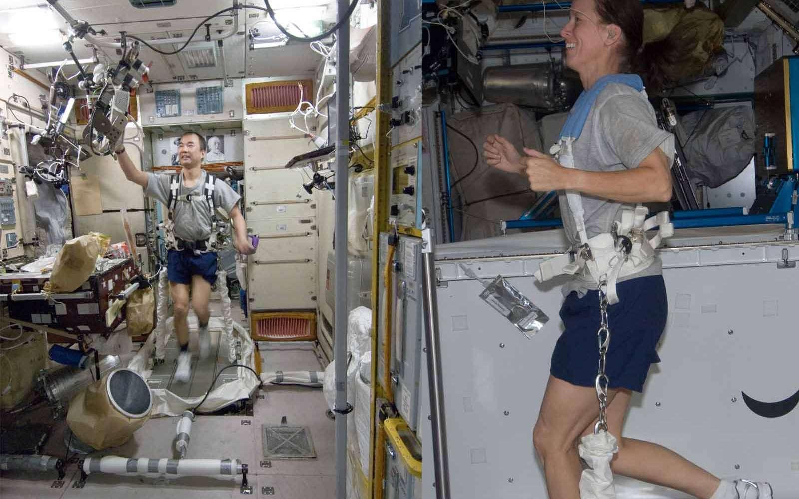 Les méthodes utilisées pour combattre les effets de l'apesanteur à bord de l'ISS sont bien adaptées pour les séjours de quelques semaines à quelques mois. Pour atteindre des destinations lointaines, il semble qu'elles ne soient pas suffisamment efficaces. Crédit Nasa