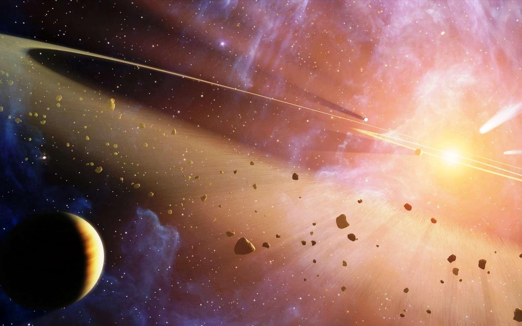 Une vue d'artiste de la naissance d'un système planétaire. © Nasa, JPL-Caltech