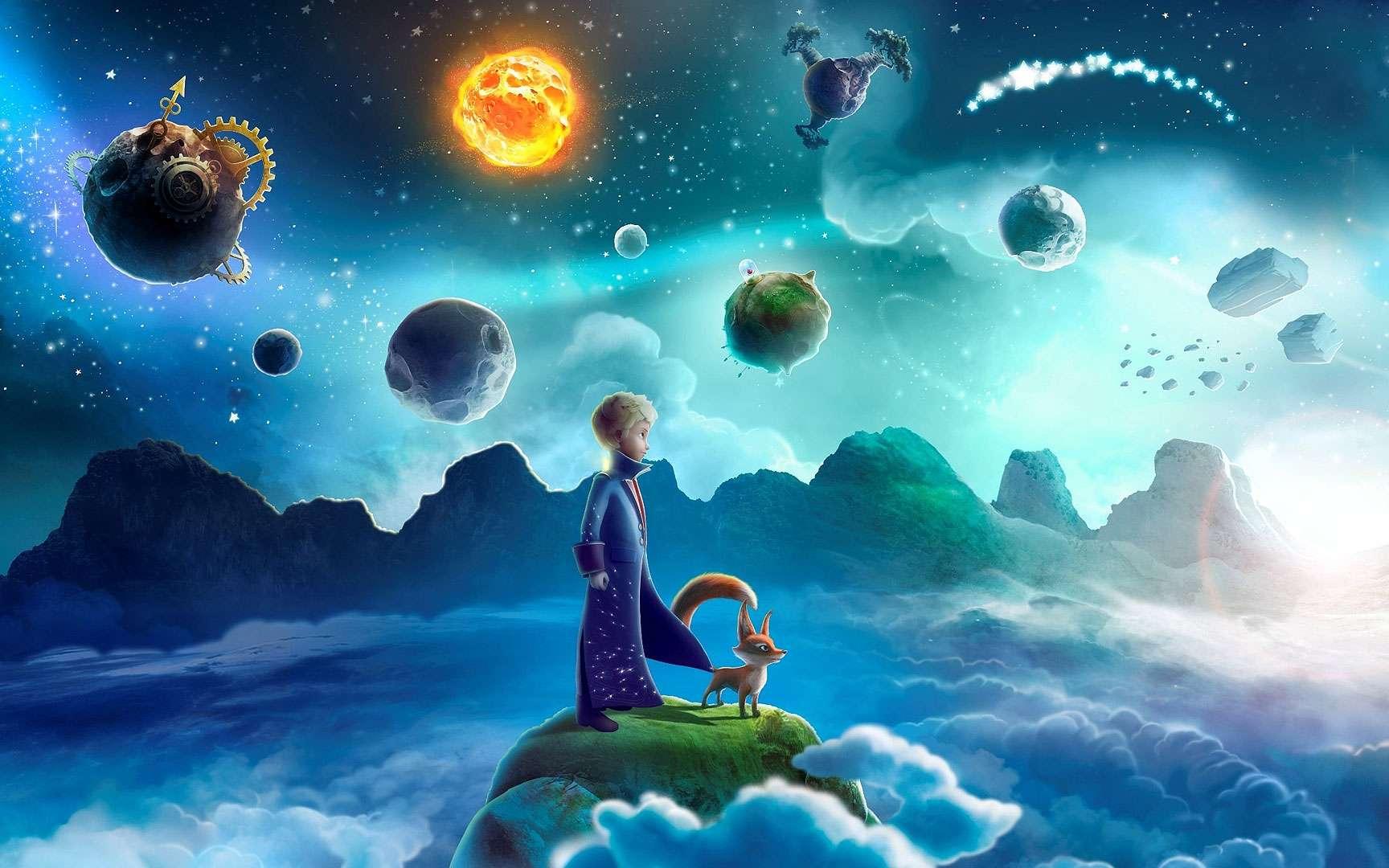 Le monde du Petit Prince. Copyright (c) Succession Antoine de Saint-Exupéry