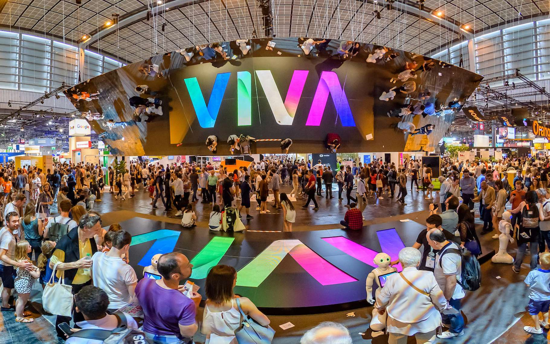 L'édition 2019 de VivaTechnology se tiendra à Paris du 16 au 18 mai. En 2018, ce salon de l'innovation avait attiré plus de 100.000 participants. © Sipa VivaTechnology