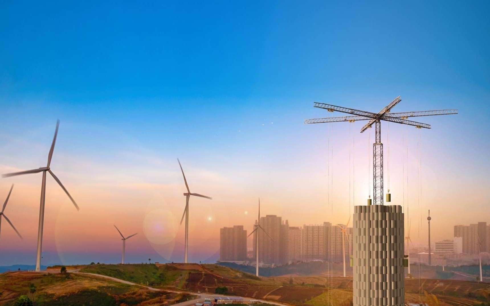 Comment stocker l'électricité renouvelable sans barrage ni batterie ? © Energy Vault