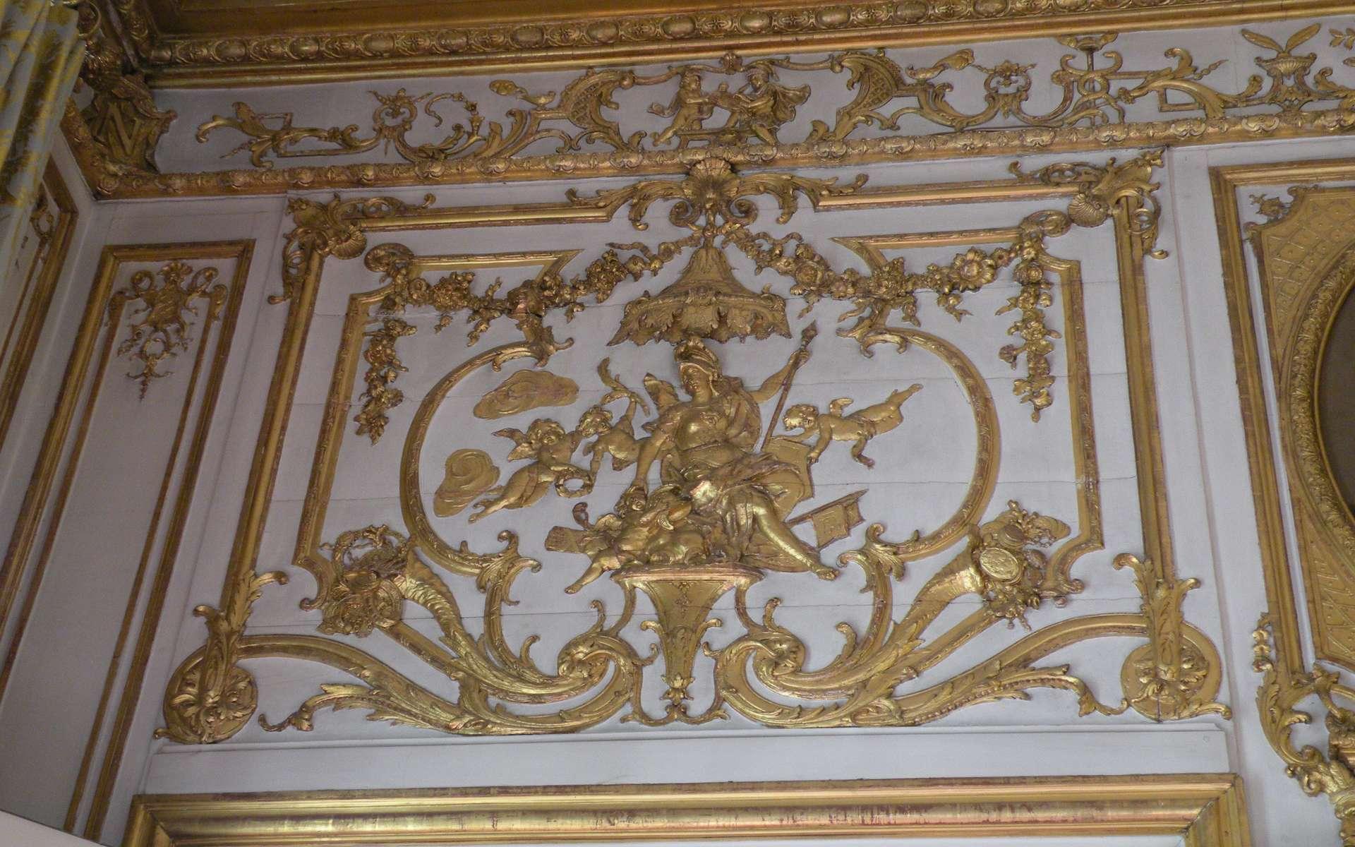 Le champlat est une baguette de bois qui habille l'encadrement d'une porte. © Chatsam, CC BY-SA 3.0, Wikimedia Commons
