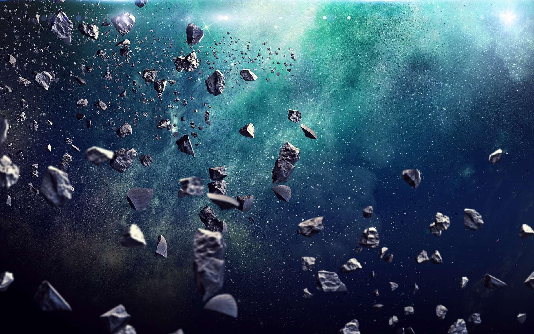 Soumis à l'effet Yorp, les astéroïdes tournent de plus en plus vite et finissent par se briser. © Sergey Nivens, Adobe stock