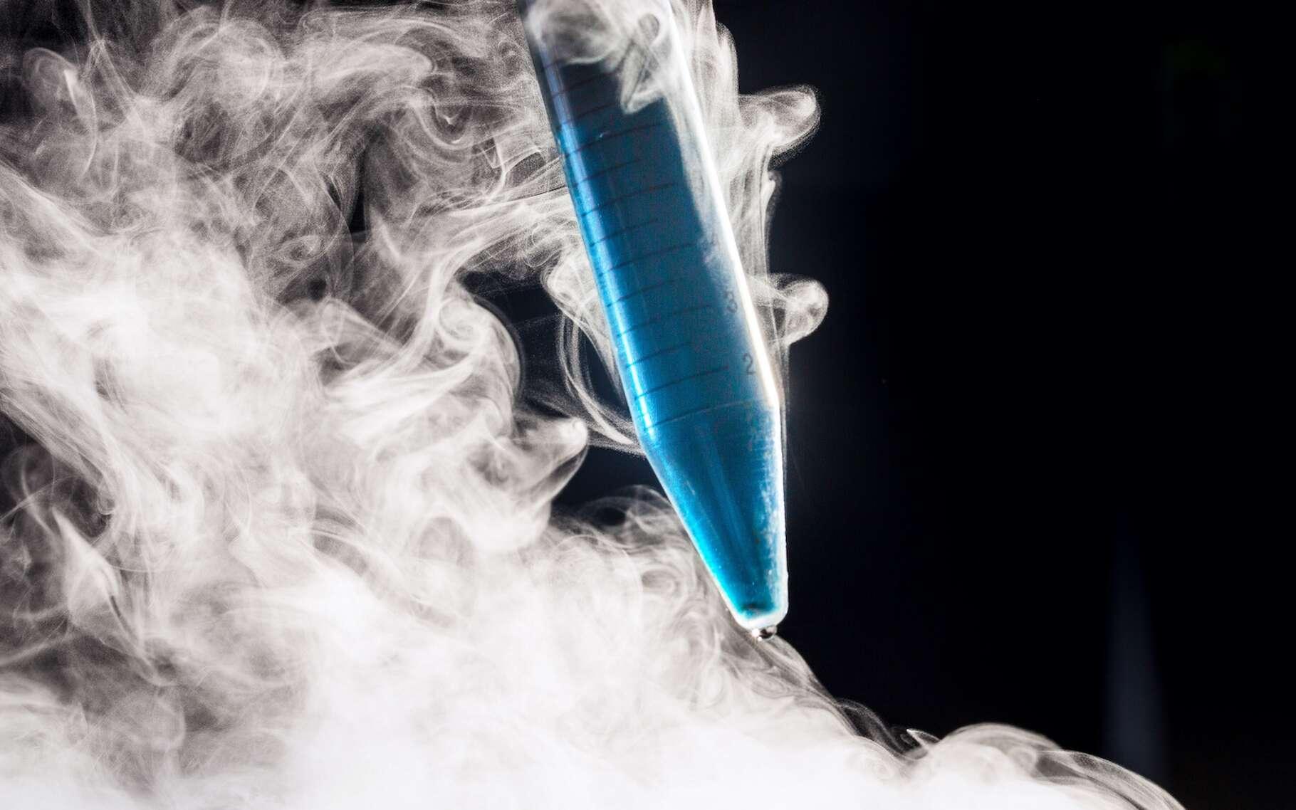 Nitrates et nitrites contiennent tous les deux de l'azote, l'un des principaux constituant de l'atmosphère un indispensable de la vie. Sous sa forme liquide, il sert aussi, comme ici, à la cryoconservation. © Alessandro Grandini, Adobe Stock