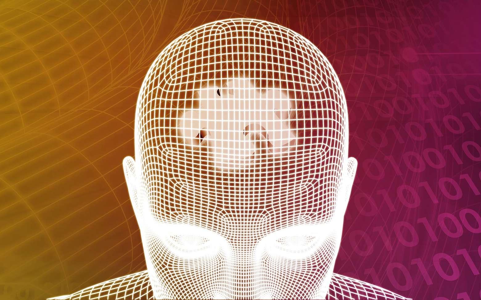 Dans la simulation transcrânienne par courant direct, deux électrodes sont posées sur le scalp pour appliquer un léger courant électrique. © kentoh, Fotolia