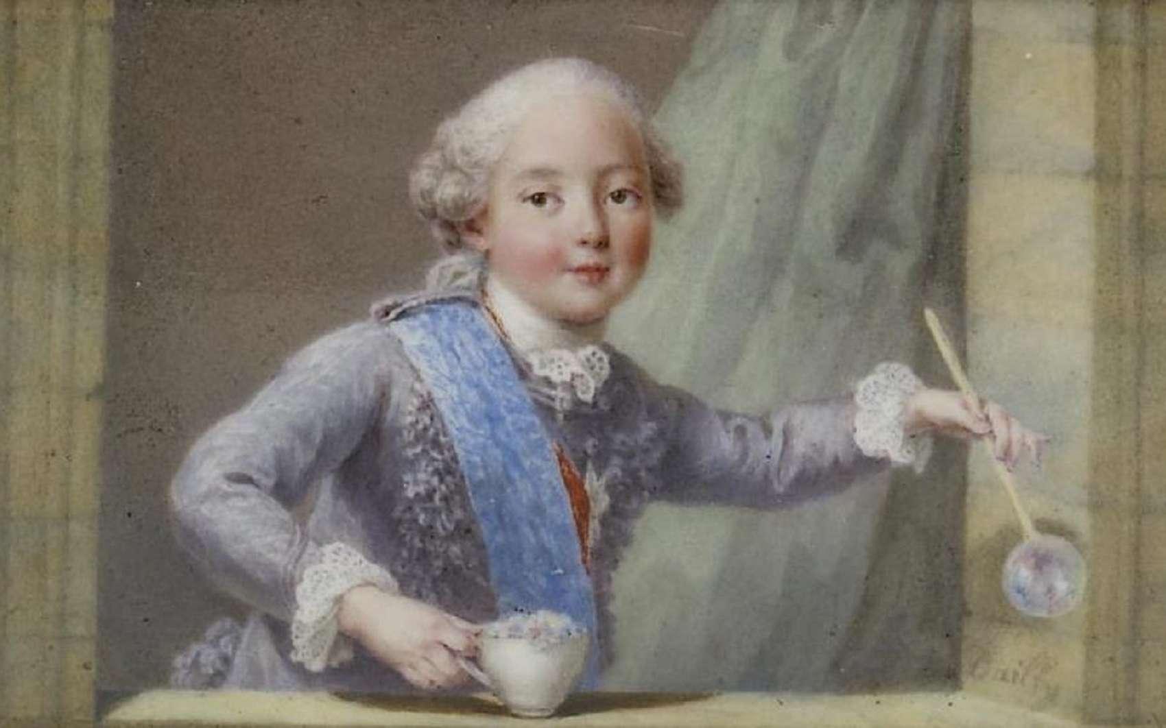 Portrait de Philippe de France, duc d'Anjou, plus jeune fils du roi Louis XV, peint par Barrière et Dailly en 1761. Walters Art Museum, Baltimore, USA. © Wikimedia Commons, domaine public.