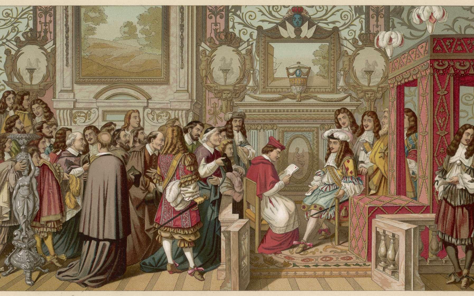 Le « Roi-Soleil » et sa Cour. © Archivist, fotolia