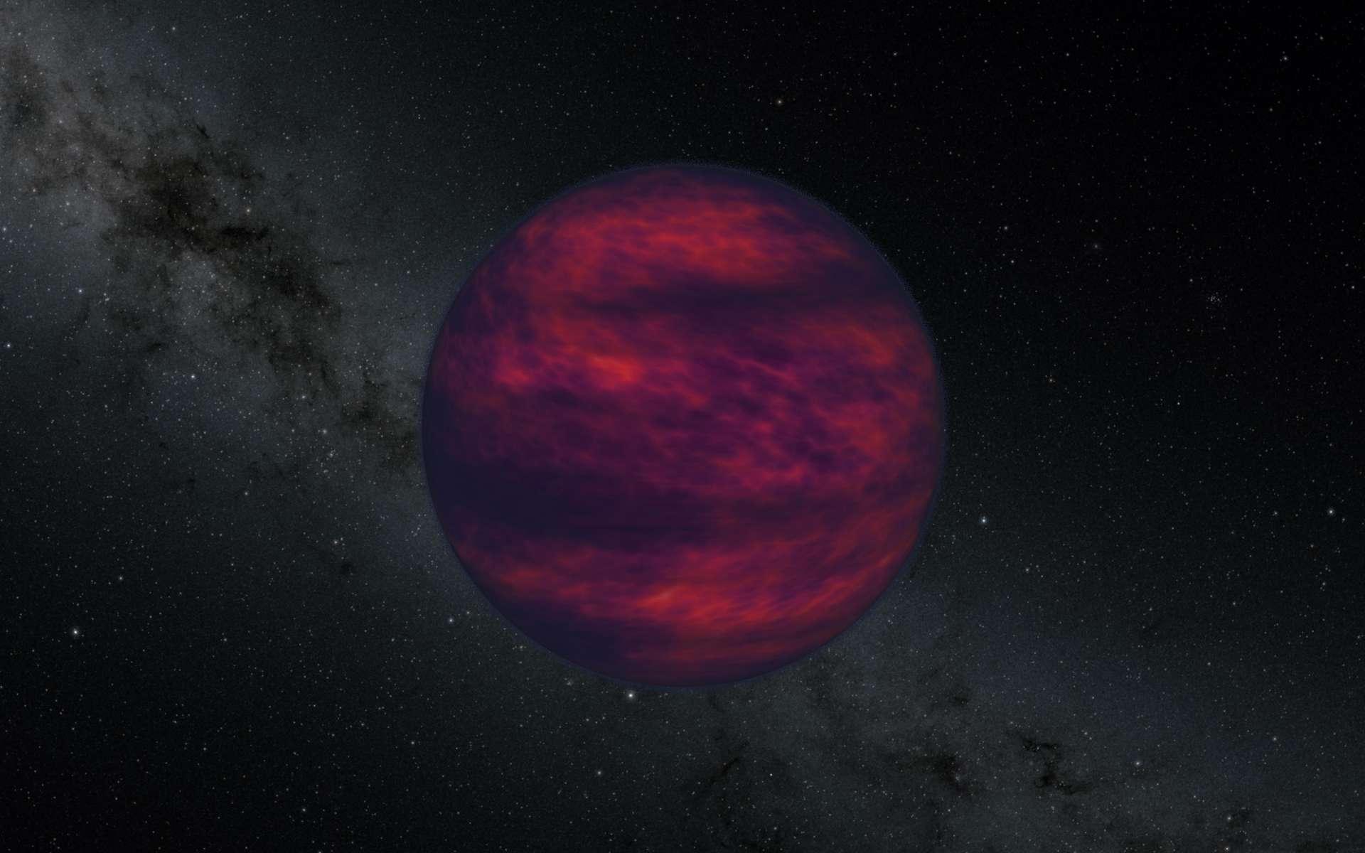 Les naines brunes sont intermédiaires en masse entre les planètes géantes et les étoiles. Elles ont une masse typiquement comprise entre 13 et 80 fois celle de Jupiter, ce qui suffit pour déclencher la fusion du deutérium (absente dans les planètes comme Jupiter) mais pas pour initier la fusion de l'hydrogène (protium), ce qui définit les étoiles. © Nasa / JPL-Caltech