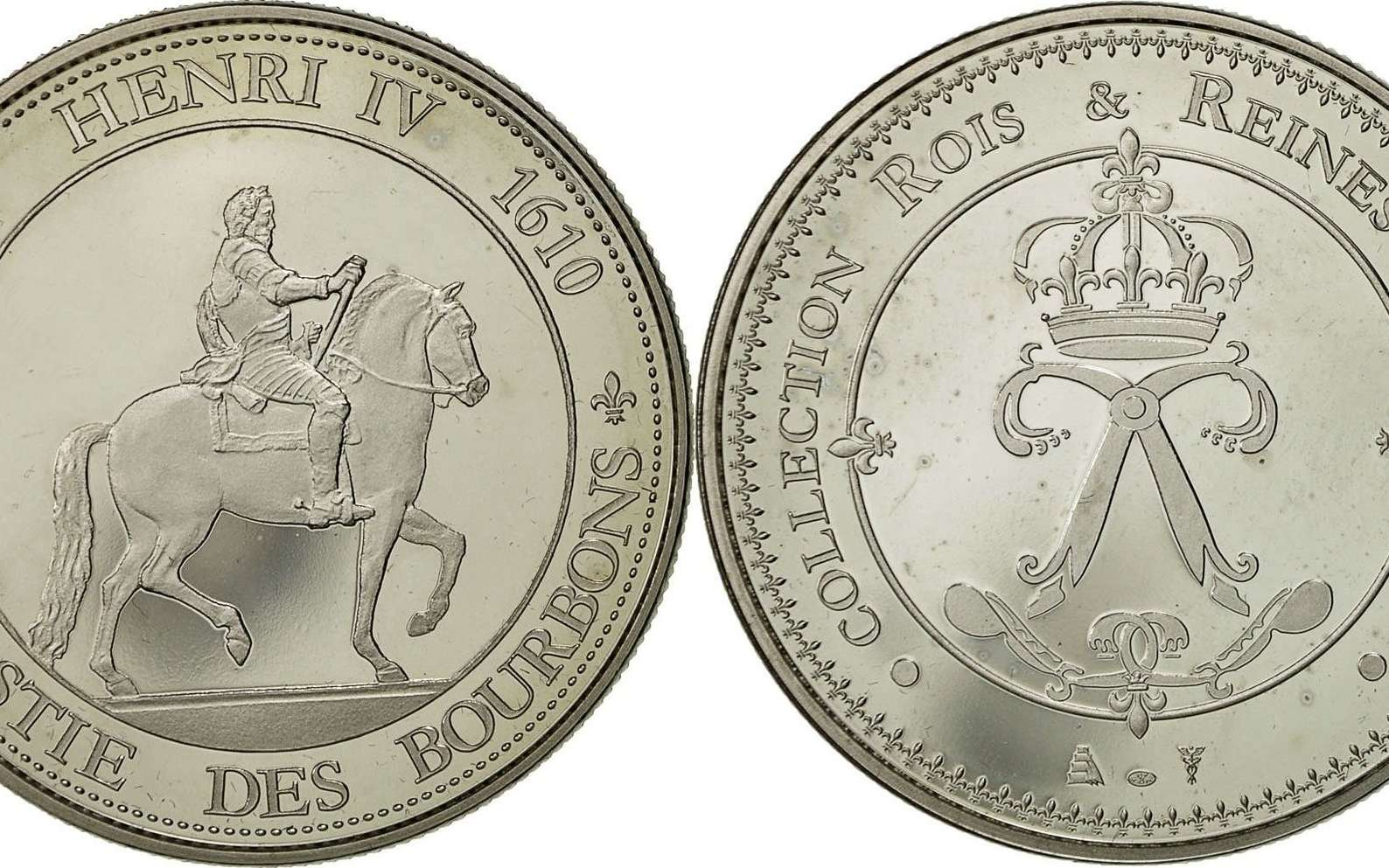 Médaille France Henri IV, dynastie des Bourbons. © Nickel MS(64), Google images