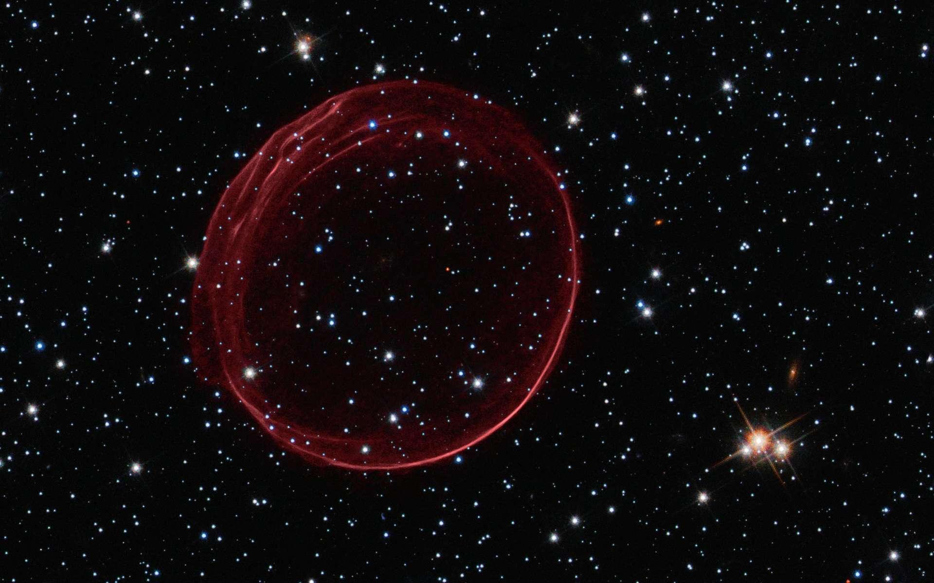 SNR 0509, le cadeau de Noël du télescope Hubble. © Nasa/Esa/The Hubble Heritage Team (STScI/AURA)/J. Hughes (Rutgers University)