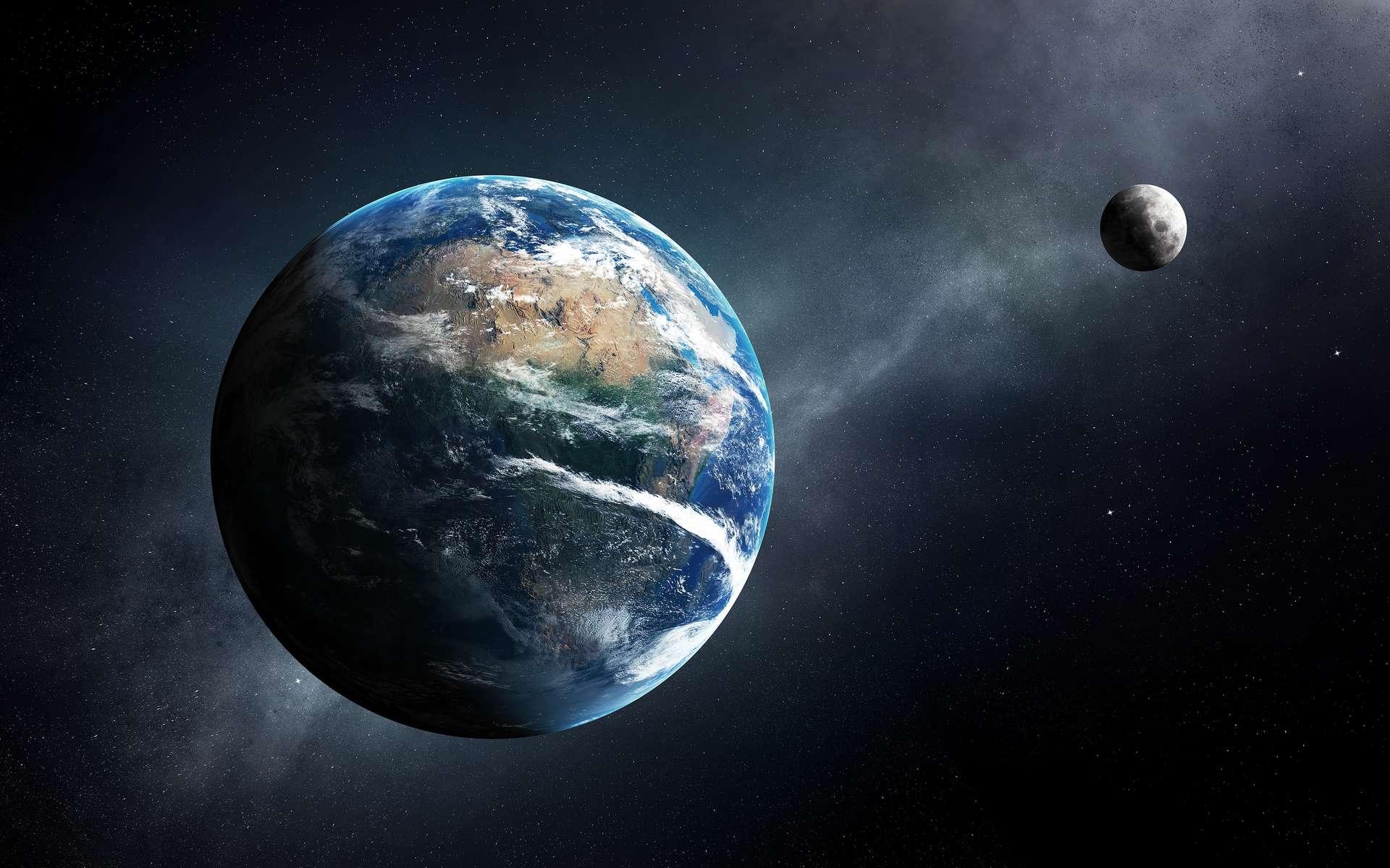 Le fonctionnement du système Terre-Lune influence la durée du jour sur notre planète. © JohanSwanepoel, Adobe Stock