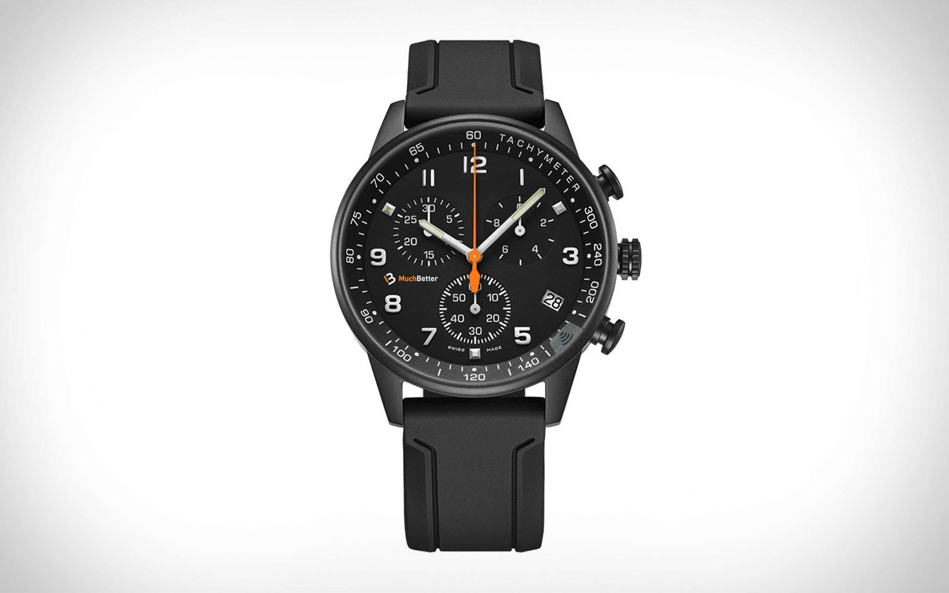 L'avantage d'intégrer un verre équipé d'une puce NFC, c'est que la montre devient connectée sans avoir les inconvénients d'une « smart watch » qui nécessite d'être rechargée. © Winwatch