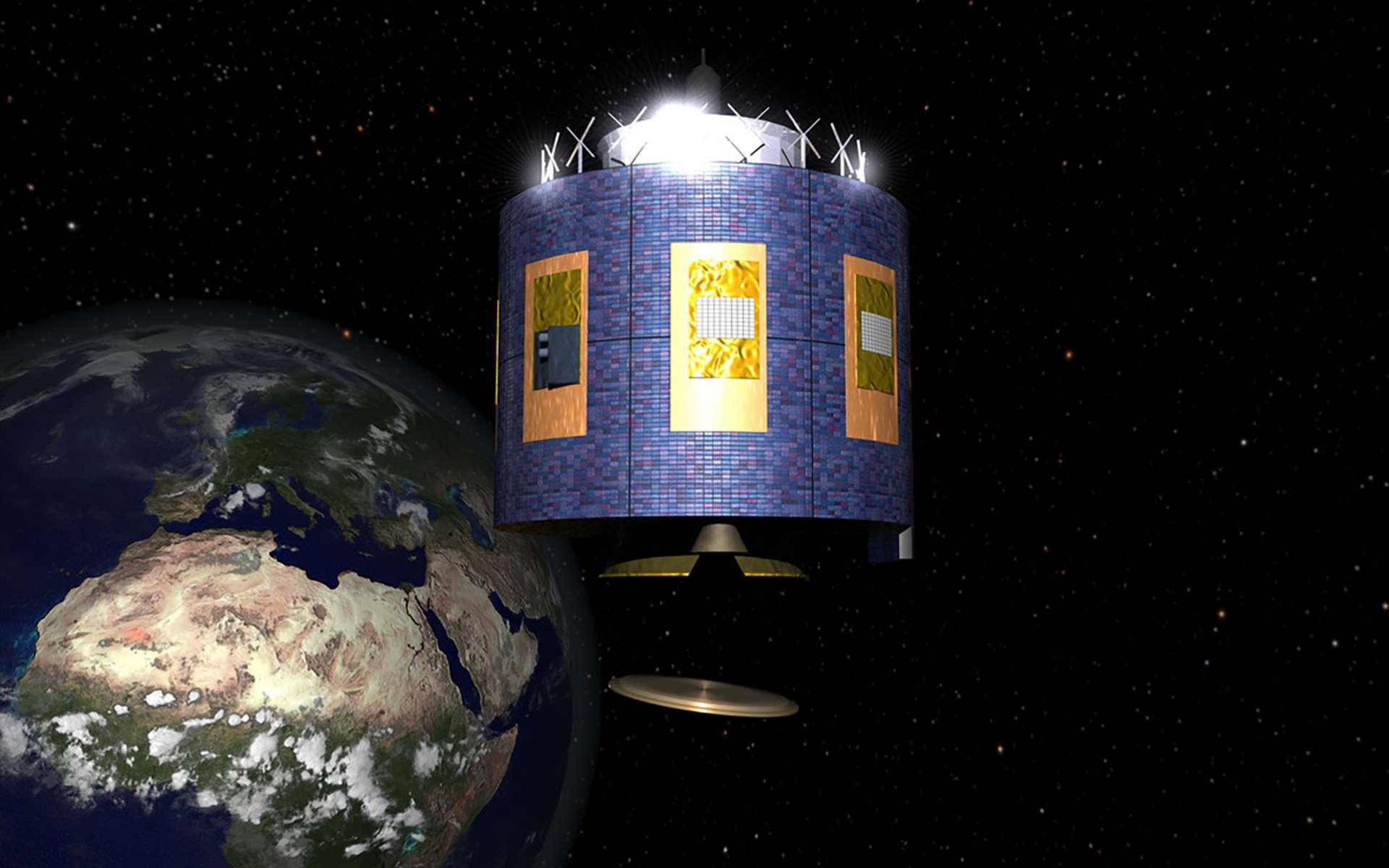 Vue d'artiste d'un satellite Météosat de deuxième génération. © ESA