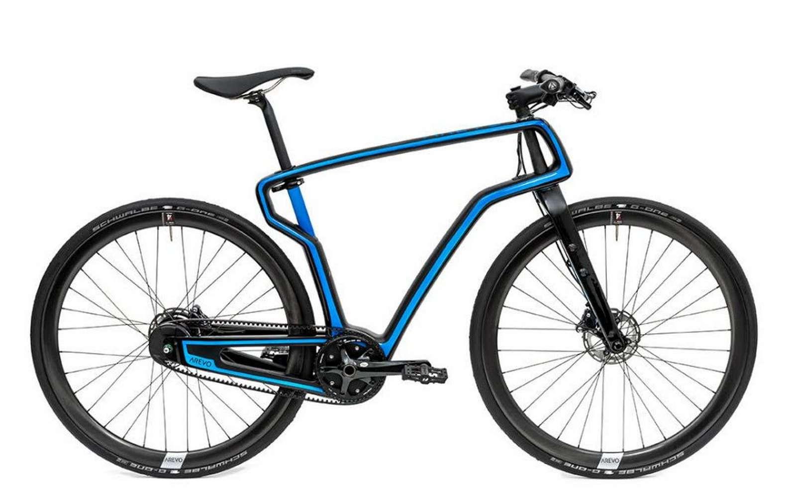 Le prototype de vélo en carbone fabriqué par impression 3D par Arevo. © Arevo