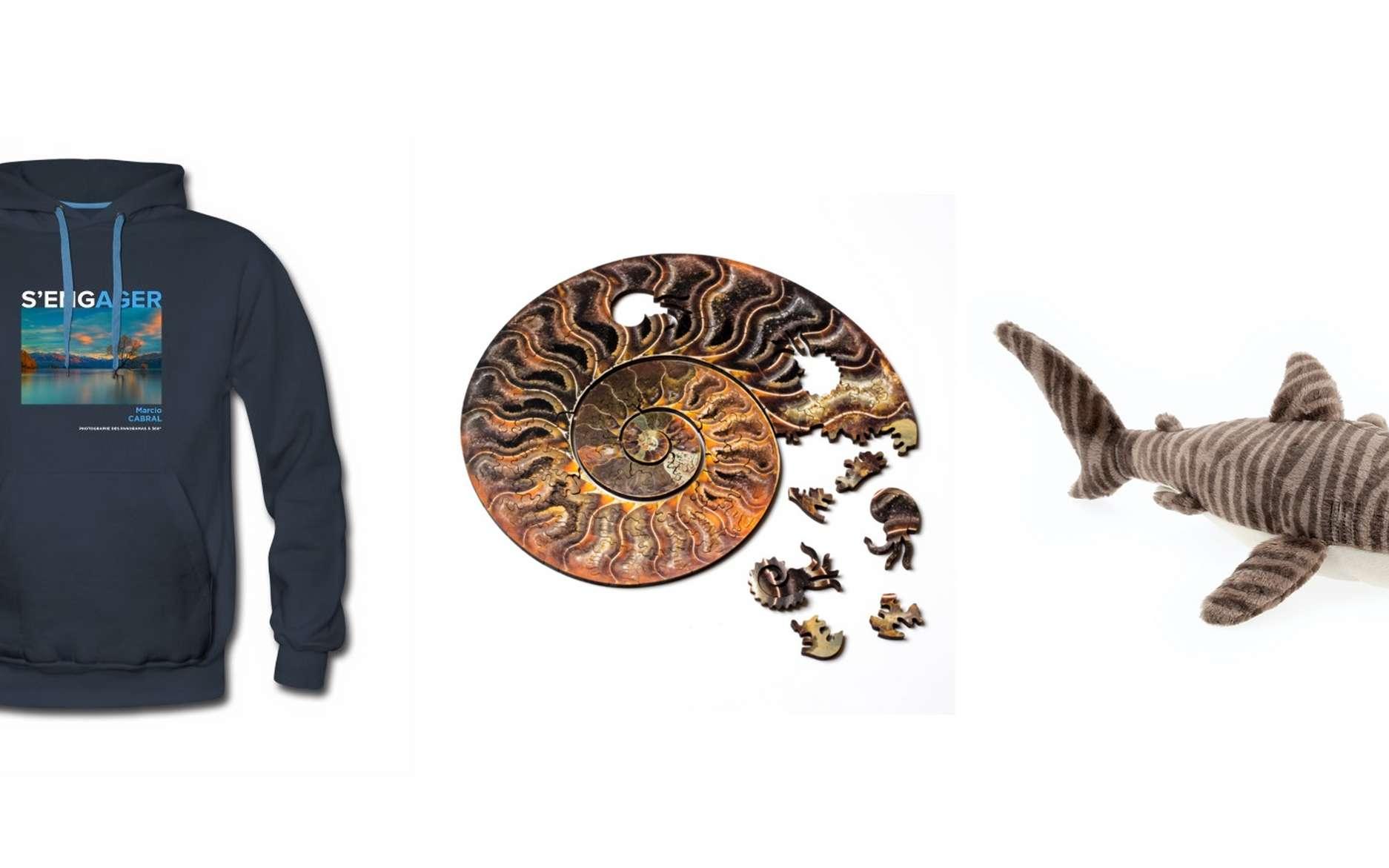 Idées de cadeaux de Noël pour les amoureux de nature et d'environnement. © Futura, Nervous System, Mémoires d'océans