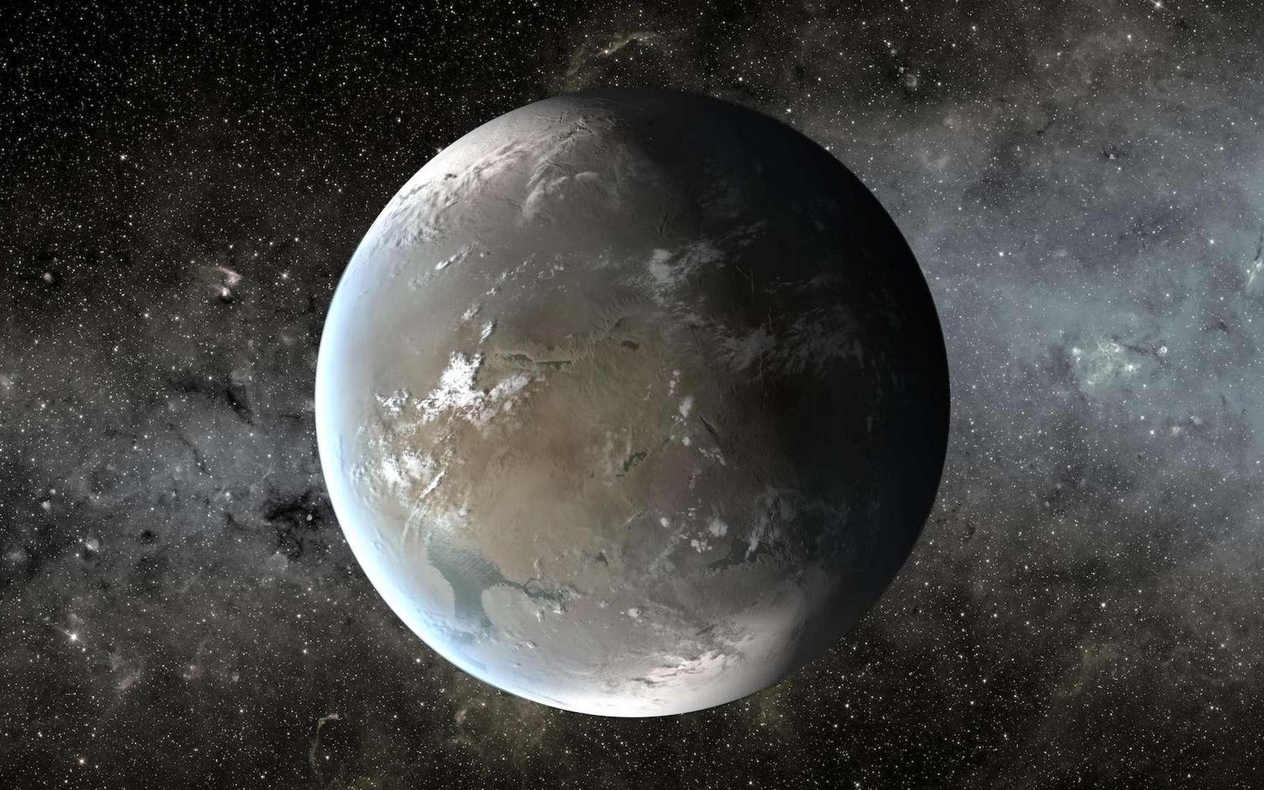 Vue d'artiste d'une exoplanète similaire à la Terre. © Nasa/Ames/JPL-Caltech