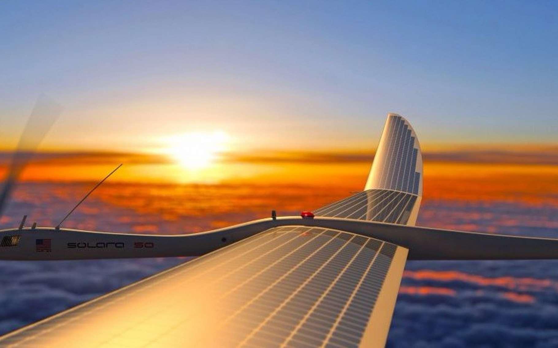 Google a acheté les drones solaires Titan Aerospace en 2014. La société comptait les utiliser pour améliorer l'accès à Internet dans les zones reculées. © Titan Aerospace