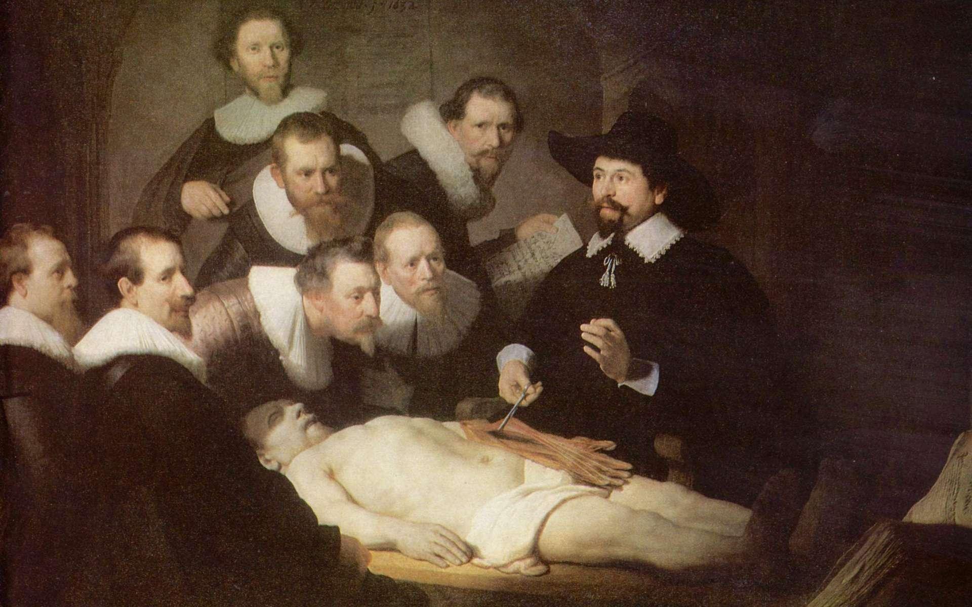 Donner son corps à la science a pour but d'améliorer notre connaissance du corps humain. Le don d'organe, lui, est destiné à sauver une personne en attente de greffe d'un organe. © La leçon d'anatomie (Rembrandt), domaine public, Yorck Project