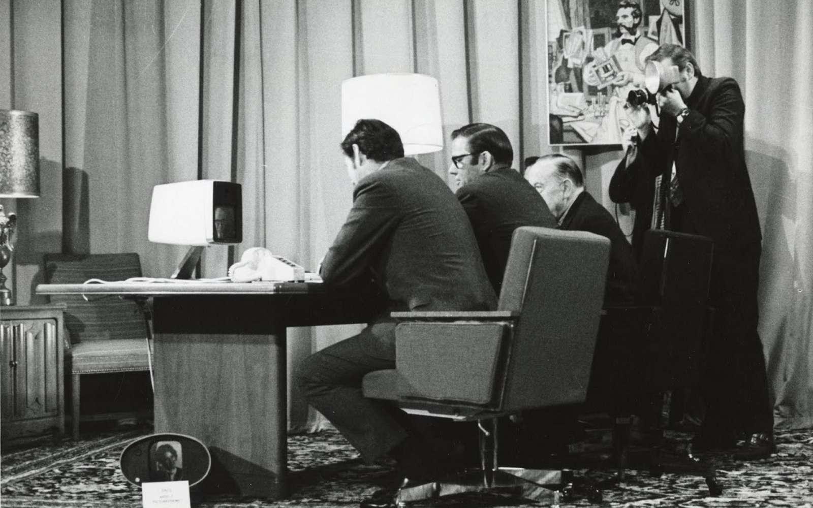 Le 30 juin 1970 AT&T lançait le Picturephone II, le premier appareil de visioconférence grand public. © Université de Carnegie Mellon