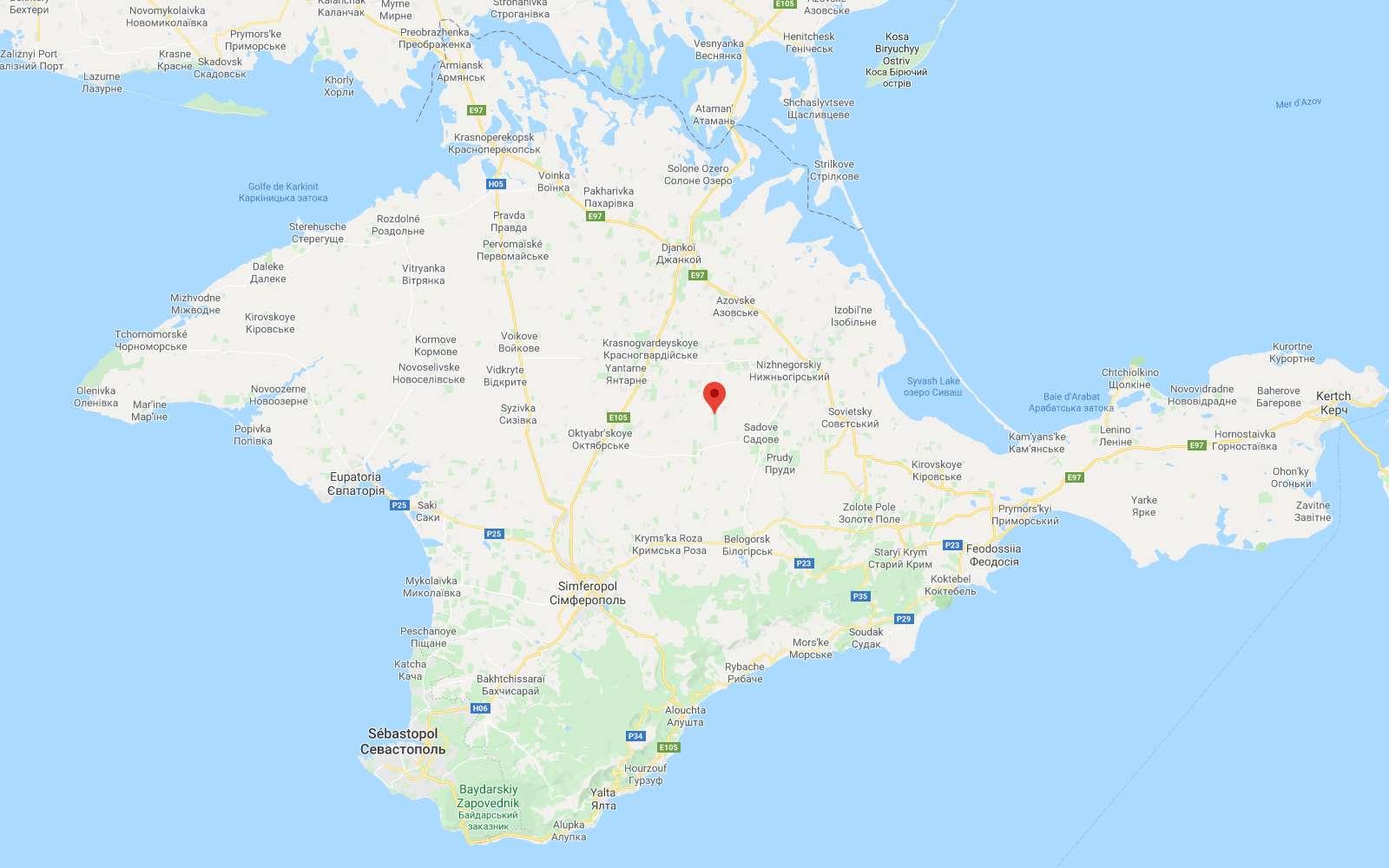 Question de point de vue. Sur Google Maps, la frontière de la Crimée, annexée par la Russie en 2014, apparaît en pointillés depuis l'Ukraine. En Russie, la ligne de frontière montre que la péninsule est représentée comme partie intégrante de la Russie. © Futura