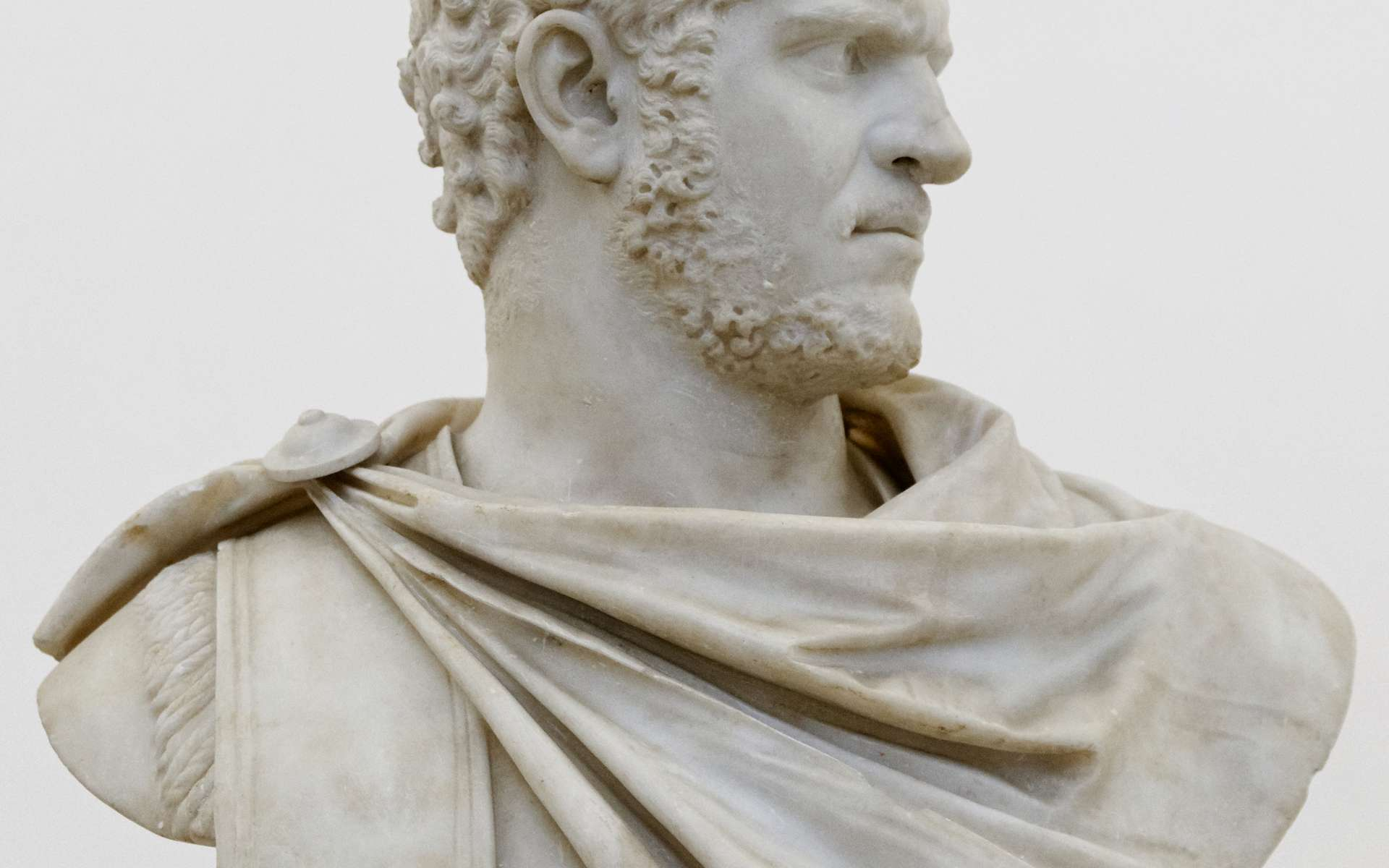 Buste de Caracalla. © Marie-Lan Nguyen, Musée national d'archéologie de Naples, Wikimedia Commons, CC by 2.5