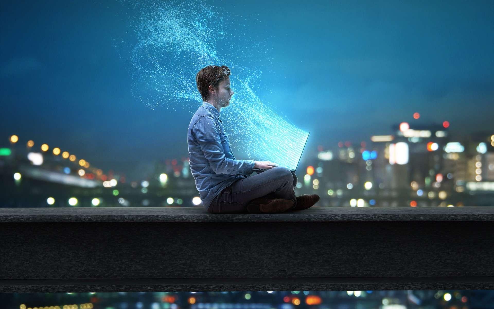 Lieu imaginaire appliqué métaphoriquement au réseau Internet. Les internautes circulent dans le réseau pour s'informer, discuter, s'amuser, flâner… comme dans le monde réel. Le terme anglais cyberspace a été créé par William Gibson dans son livre intitulé Neuromancer. Le terme cyberespace est parfois utilisé dans le sens de monde « virtuel ». © lassedesignen, Adobe Stock