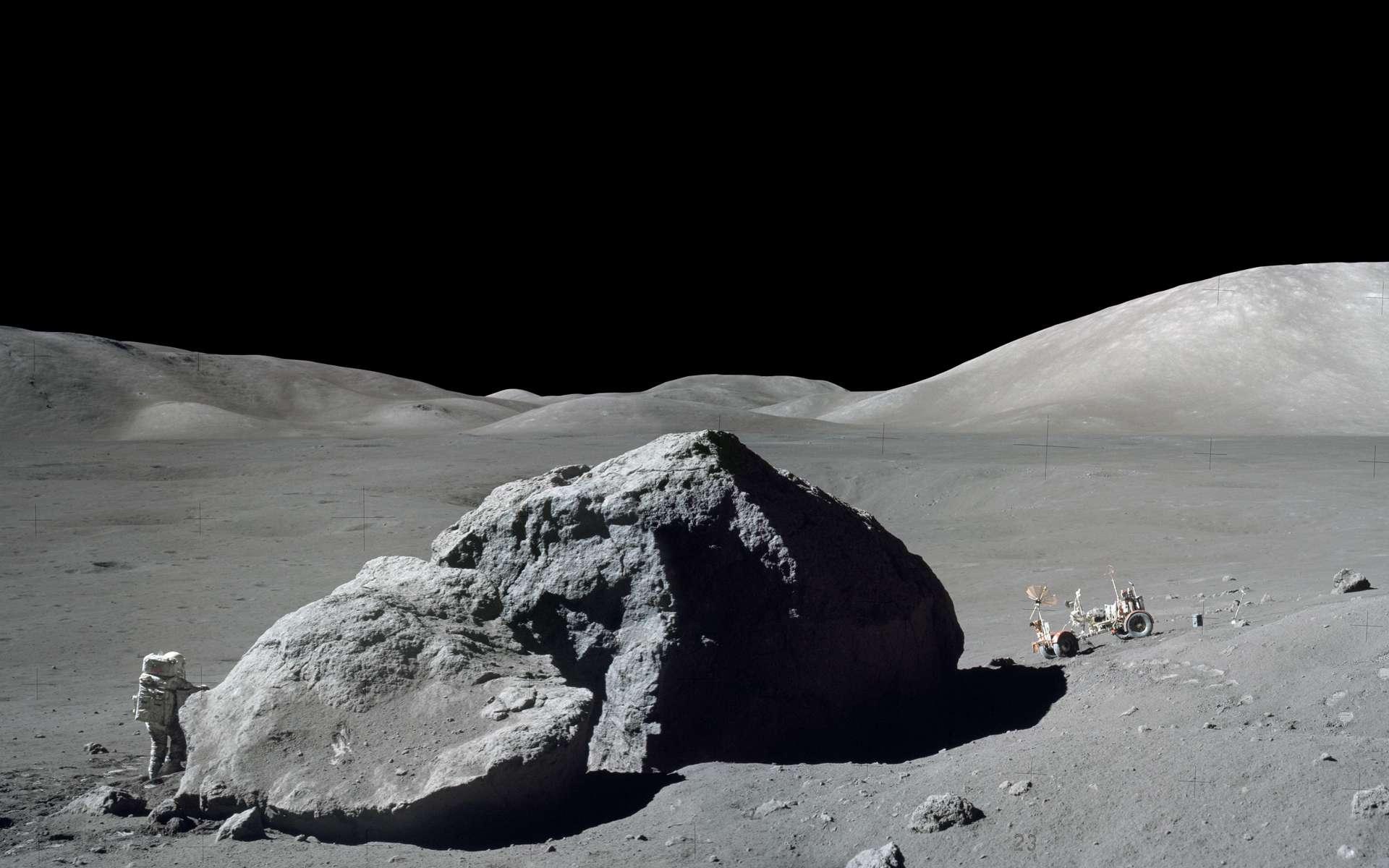 Lune Apollo 17. © Harrison H. Schmitt_nasa Gene Cernan