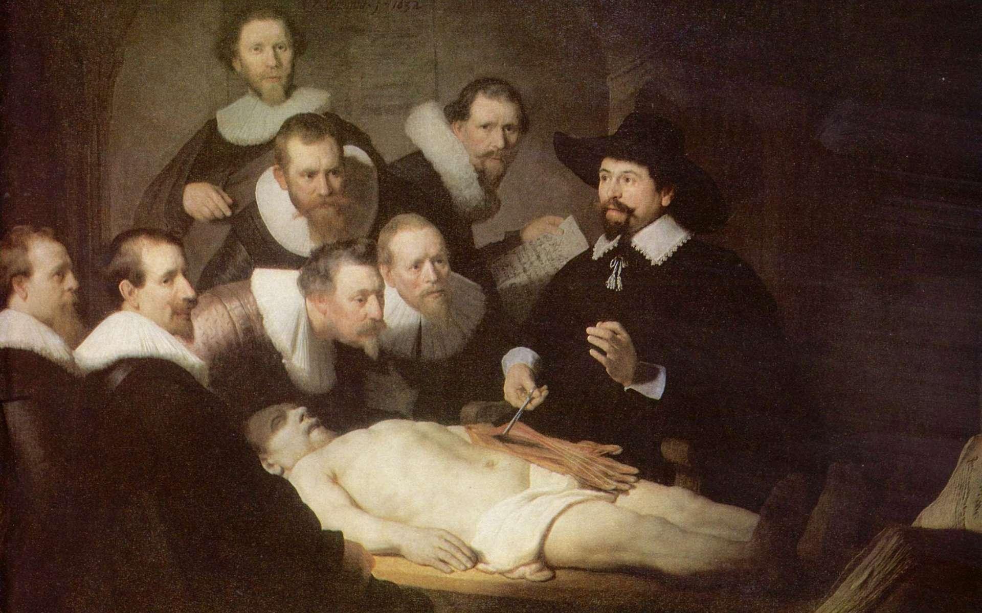 « La leçon d'anatomie du docteur Tulp », par Rembrandt en 1632. Mauritshuis, La Haye, Pays-Bas. © Wikimedia Commons, domaine public