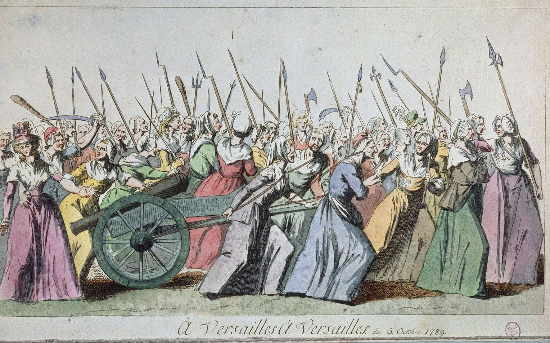 La marche des femmes sur Versailles (5-6 octobre 1789). © Wikimedia Commons, Public Domain