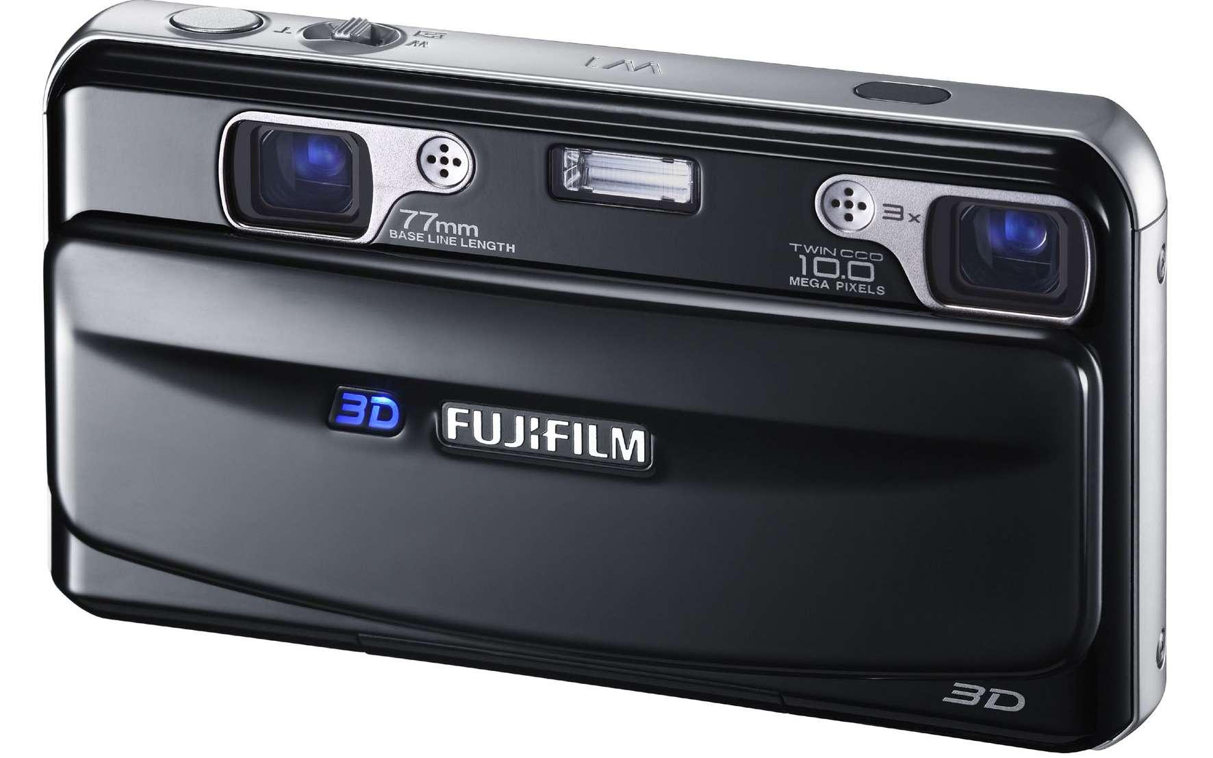 Grâce à ses deux objectifs, le FinePix 3D W1 peut prendre deux images simultanément, permettant de restituer le relief, ou bien deux vues prises à des focales différentes. © DR