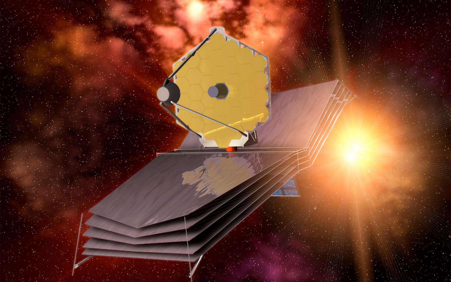 Le télescope spatial James Webb qui doit succéder à Hubble, avec à la clé de formidables avancées scientifiques, pourrait faire les frais de la volonté du Congrès américain de réduire le budget de la Nasa. © Esa