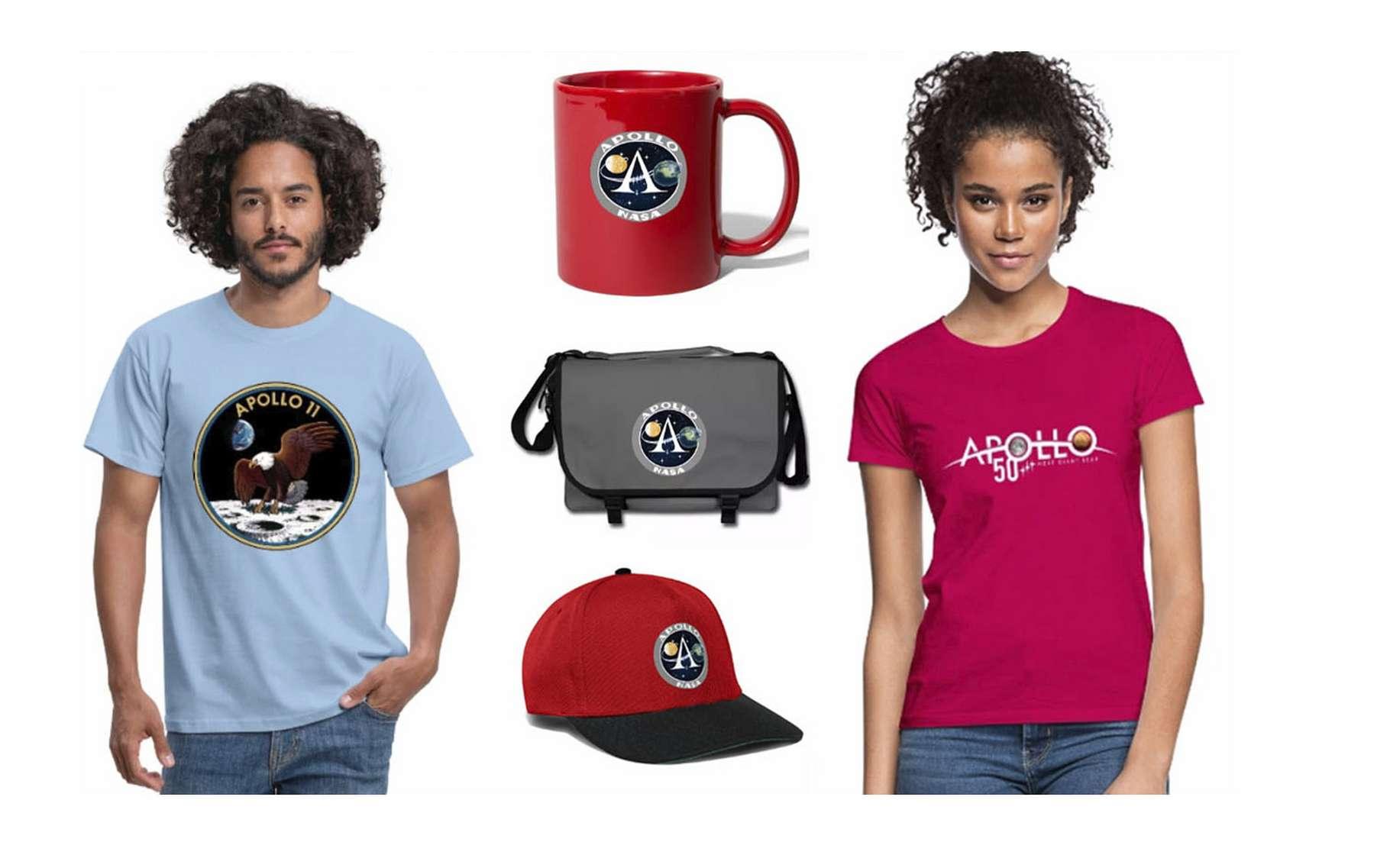 Modèles de T-shirts de la boutique Futura. © Futura