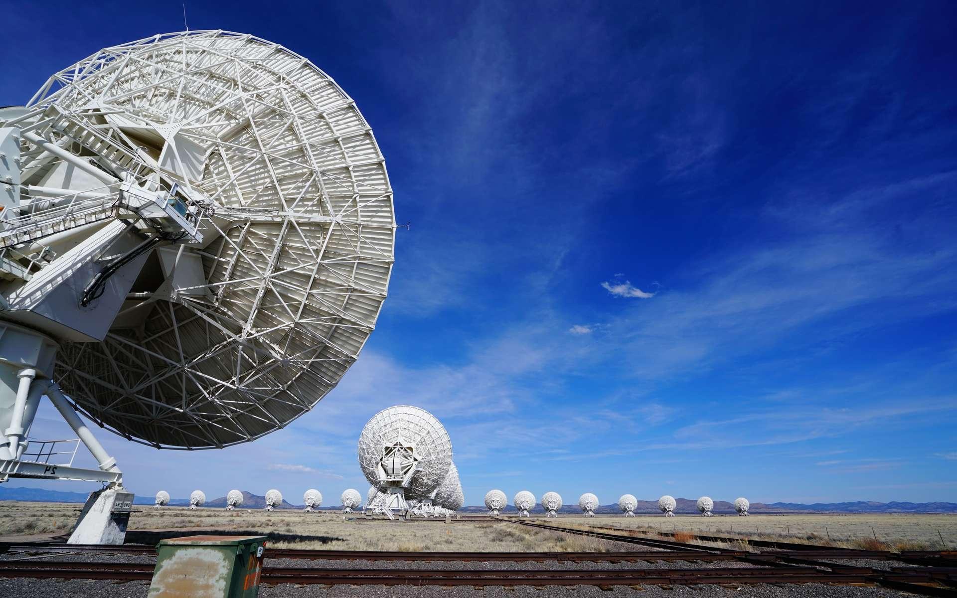 Une vue des radiotélescopes du VLA (Very Large Array) utilisés (entre autres) dans le cadre du programme Seti. © Fotolia PhotoElite