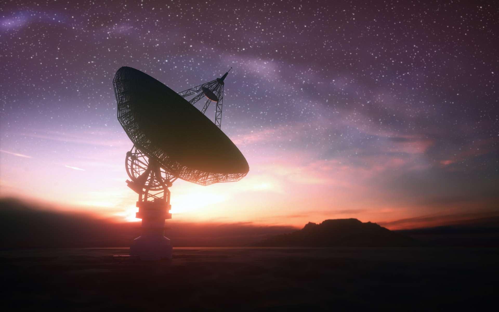 Le Karl G. Jansky Very Large Array ou plus couramment le Very Large Array (VLA) -- en français, le très grand réseau -- est un réseau de 27 antennes paraboliques mobiles de 25 mètres de diamètre chacune situé au Nouveau-Mexique, États-Unis. Elles sont disposées en Y (deux axes de 21 km et un de 19 km) et leurs données combinées offrent la résolution d'un radiotélescope géant de 36 kilomètres de diamètre. Début 2020, l'Institut Seti et l'Observatoire national de radioastronomie (NRAO) ont annoncé une collaboration pour utiliser le Very Large Array ( VLA) pour la première fois. Grâce à une nouvelle interface Ethernet économique, il sera possible d'utiliser le VLA pour rechercher des technosignatures 24 heures sur 24 - 7 jours sur 7, ainsi que pour explorer d'autres phénomènes astrophysiques naturels de manière novatrice. Le nouveau système s'appelle le Commensal Open-Source Multimode Interferometer Cluster Search for Extraterrestrial Intelligence (COSMIC SETI). © ktsdesign, Adobe Stock