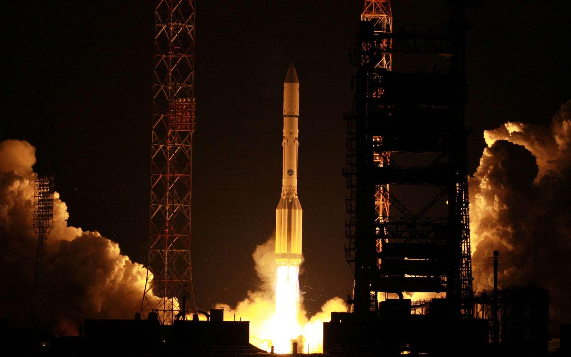 Après deux reports, le Proton a finalement décollé le jour de la Saint-Valentin pour placer sur une orbite de transfert géostationnaire le satellite SES-4. Une date peut-être pas choisie au hasard, les dirigeants de SES ayant modérément apprécié les reports du lancement ! © International Launch Services