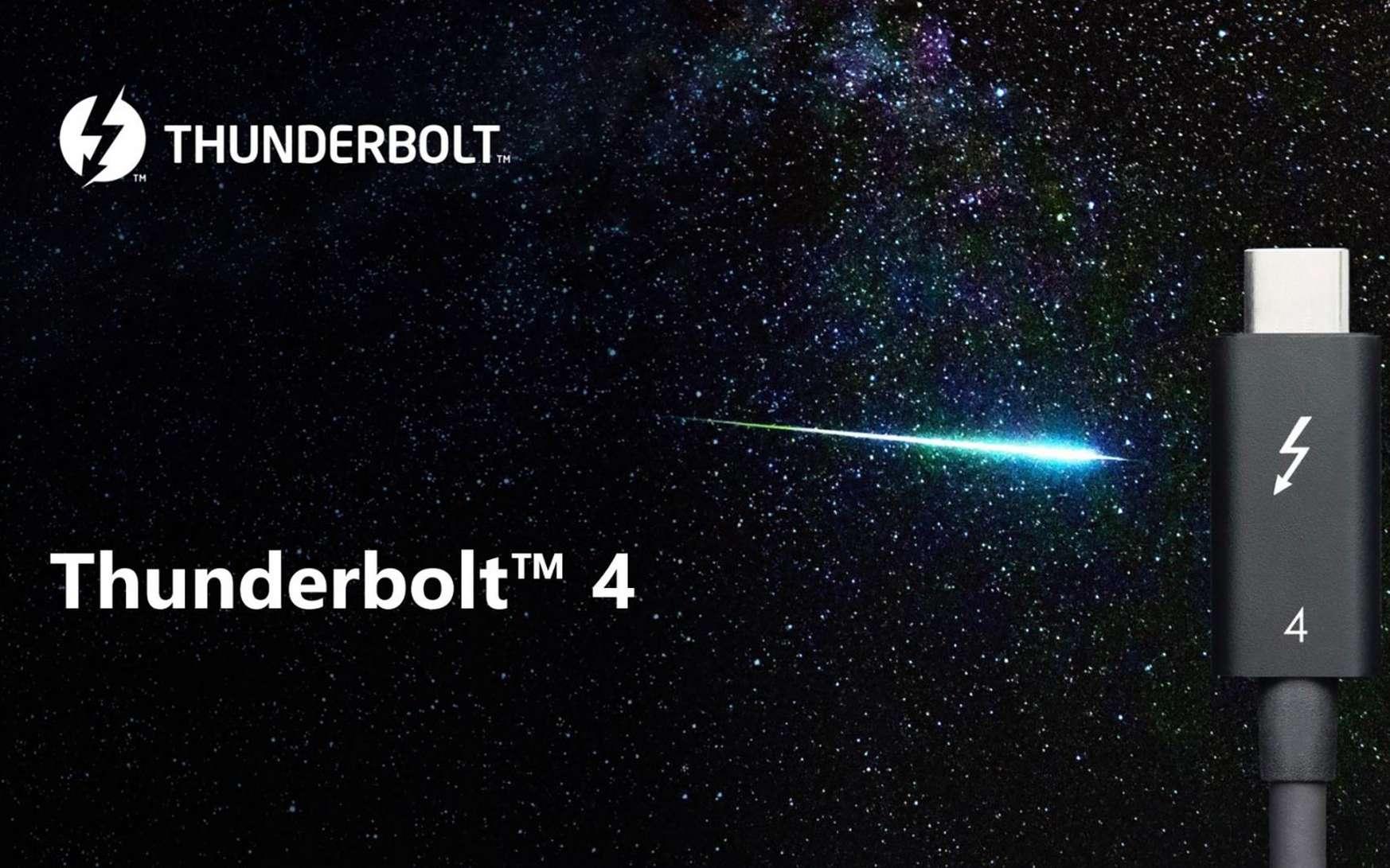 Un connecteur universel pour PC et Mac, capable d'accueillir tous types de branchements. © Thunderbolt