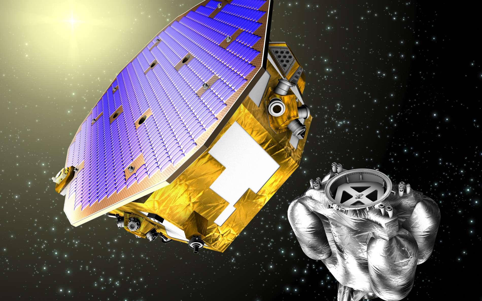 Le satellite Lisa Pathfinder est un démonstrateur. Son objectif est de valider les technologies du projet eLisa. © Esa