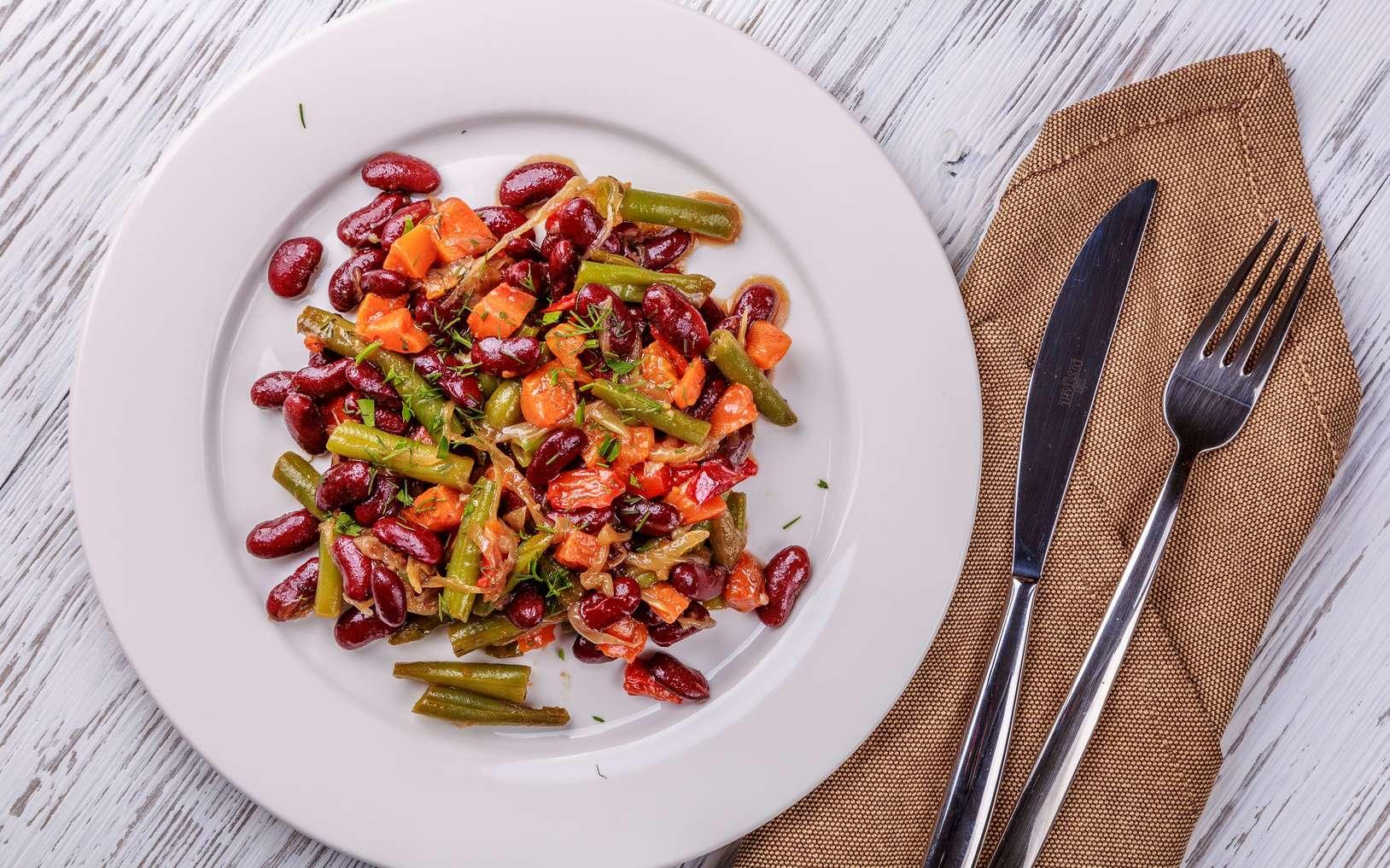 Les haricots secs peuvent être complétés par des poivrons riches en vitamine C pour augmenter la biodisponibilité de leur fer. © Alexander, Fotolia