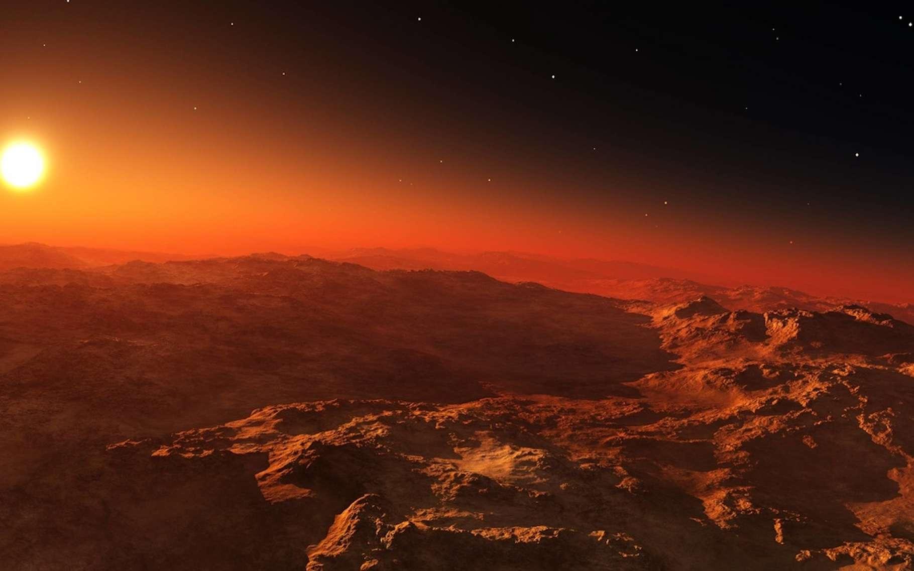 Sur Mars, il n'y a pas eu de grand bombardement tardif, affirment des chercheurs de l'université Western (Canada). De quoi rendre la Planète habitable plus tôt que prévu. © ustas, Fotolia