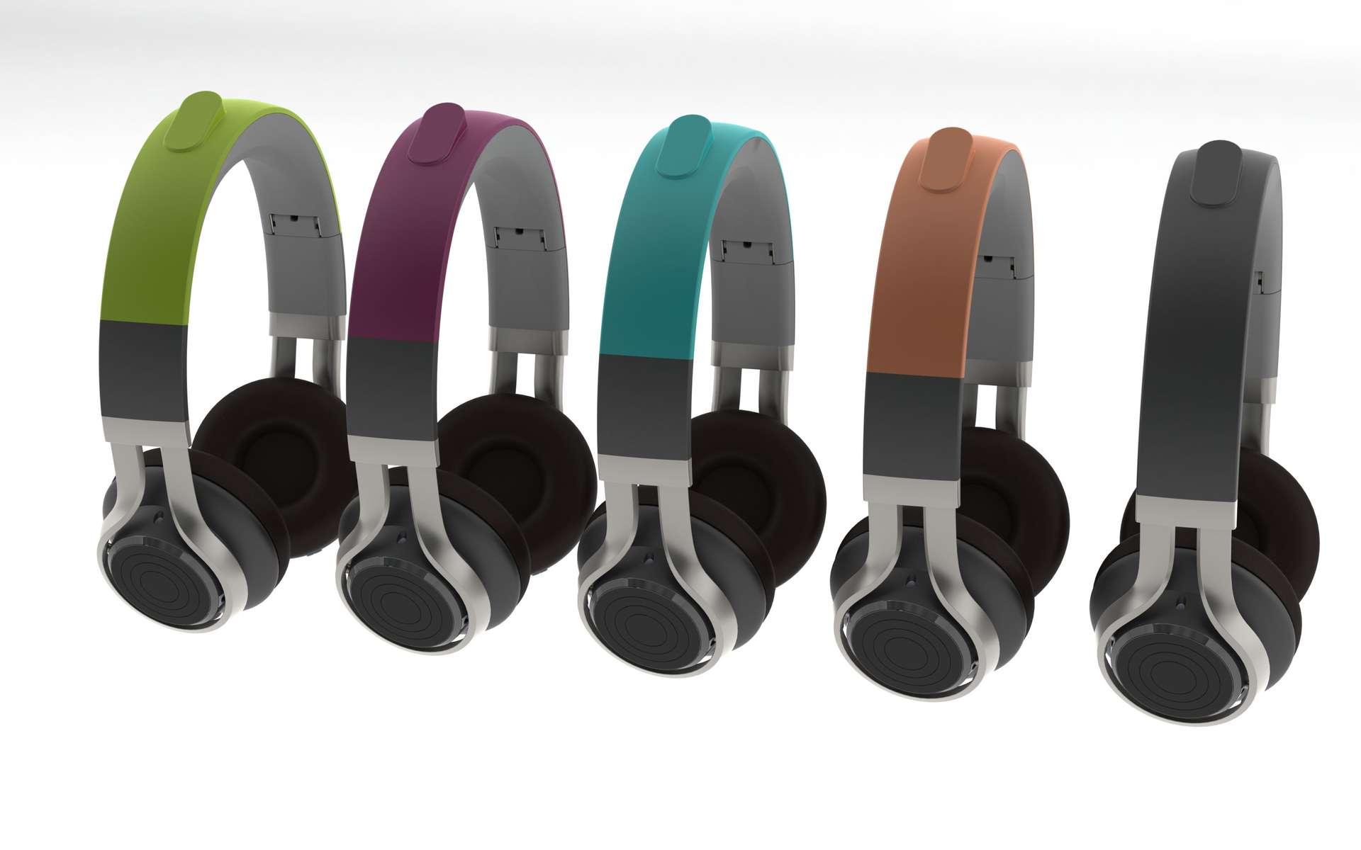 Le casque Intelligent Headset ambitionne de faire de la réalité augmentée audio, grâce à une batterie de capteurs et un GPS (la protubérance que l'on aperçoit sur le serre-tête) qui suivent les déplacements de la personne et les mouvements de la tête, afin d'adapter les commentaires et les effets sonores. © GN Store, Intelligent Headset