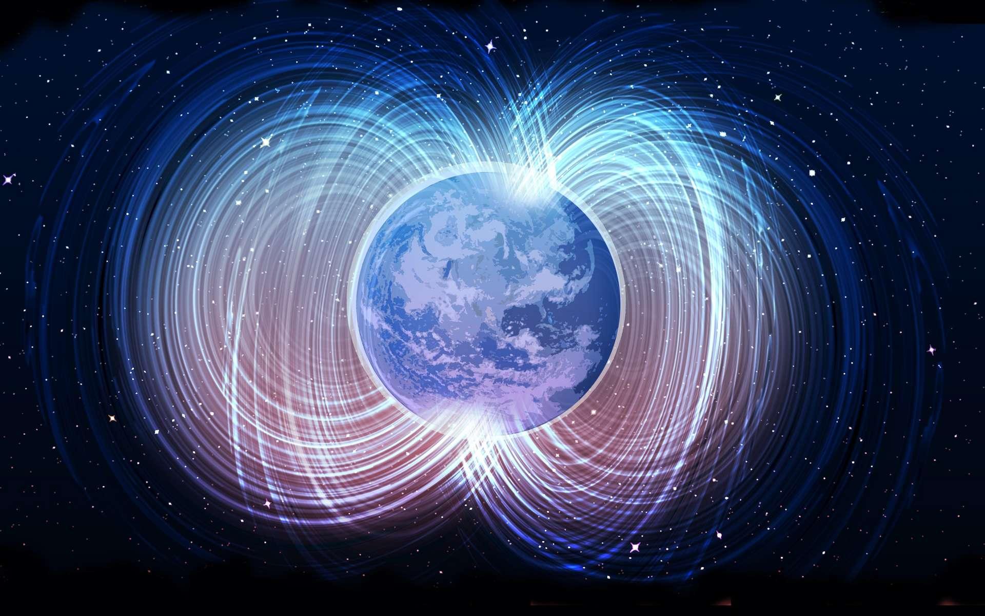 Avant de s'inverser, le champ magnétique de la Terre baisse en intensité à grande vitesse à l'échelle géologique. Or, ces 3.000 dernières années, il a perdu quelque 30 % de sa force. Pourtant les chercheurs affirment aujourd'hui que le phénomène n'annonce pas une prochaine inversion. © helenos, Adobe Stock
