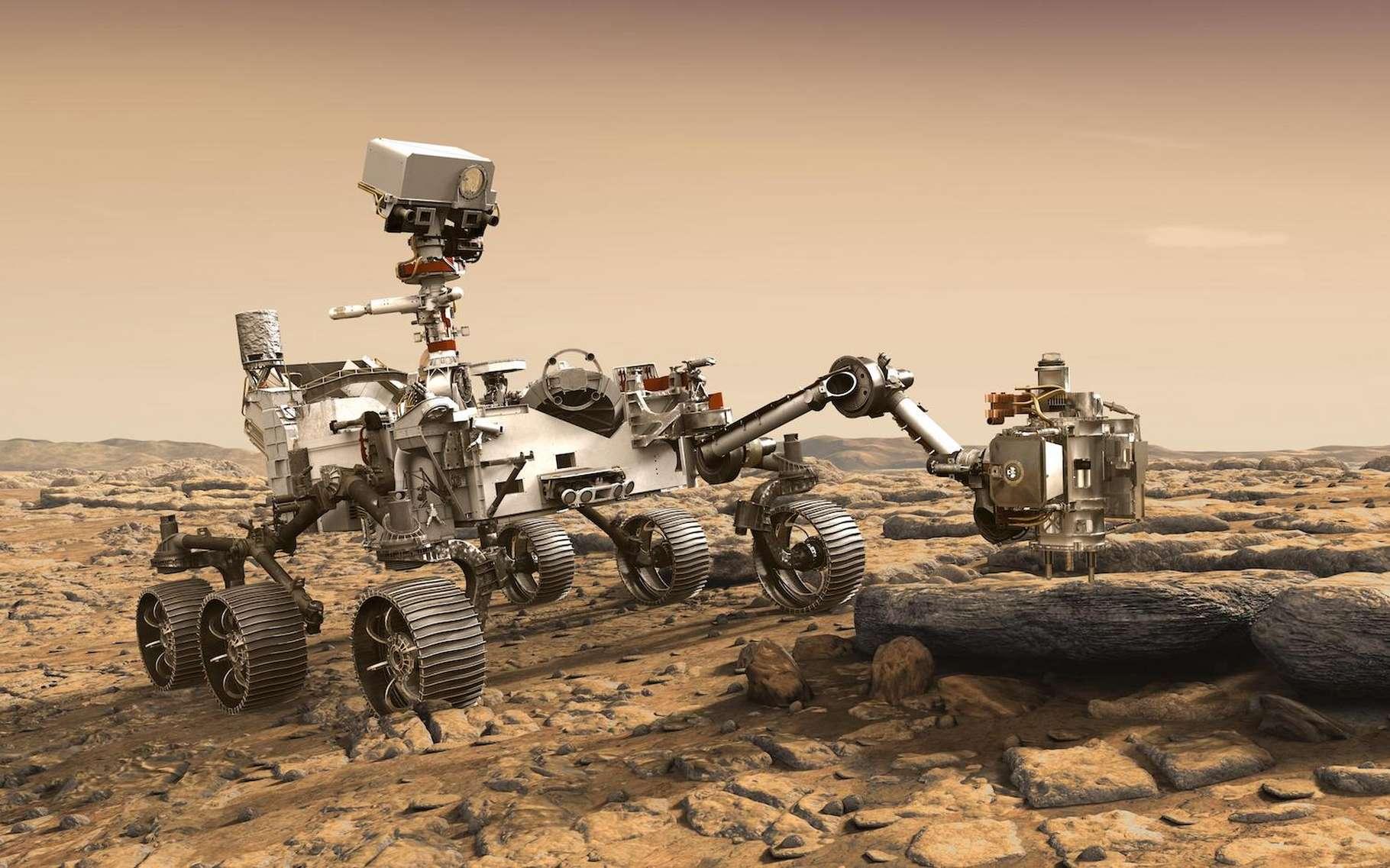 Perseverance est notamment attendu, car il prélèvera des échantillons de sol martien destinés à être ensuite ramenés sur Terre. © JPL-Caltech, Nasa